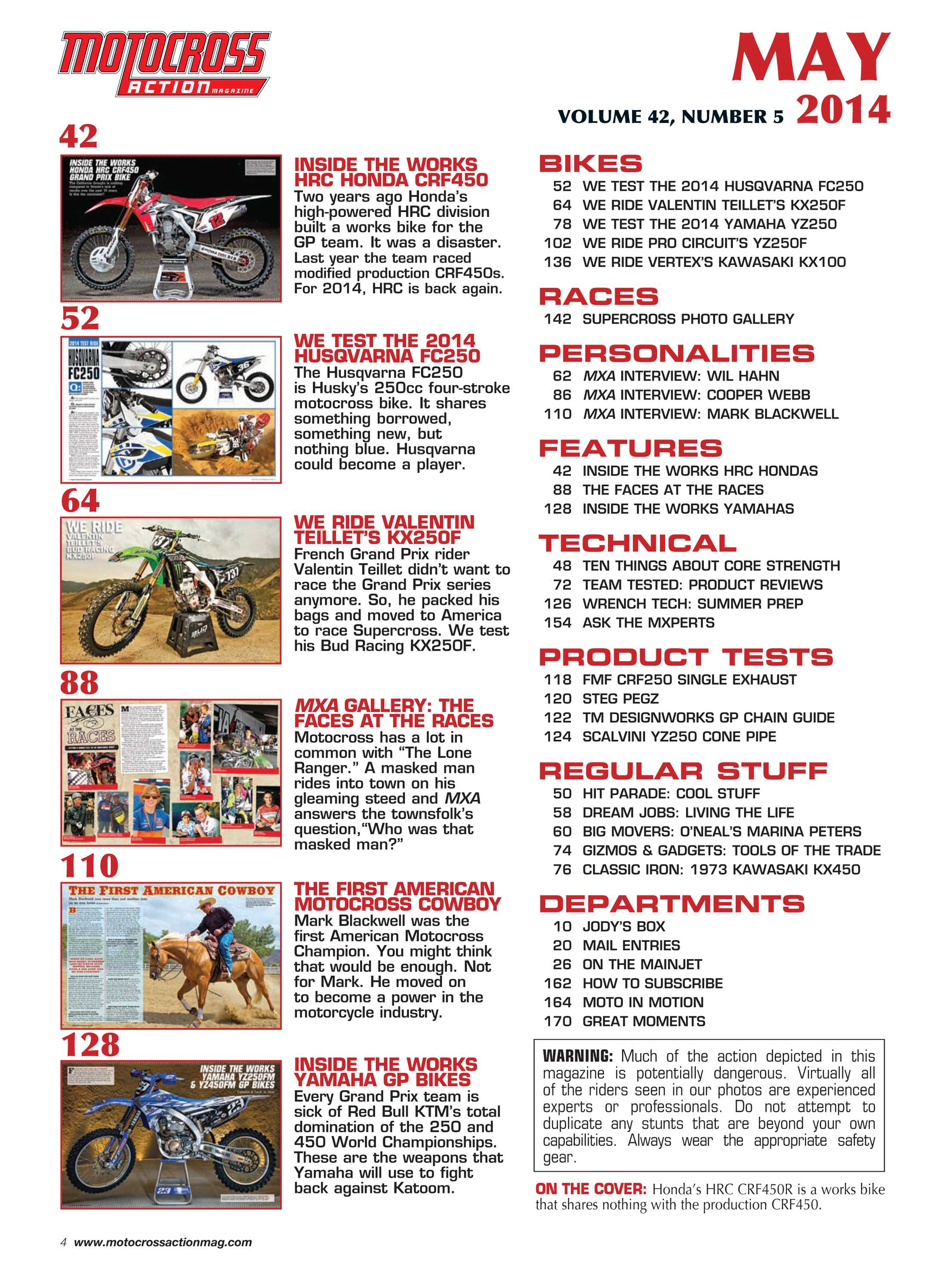 206131afc Motocross Action Magazine - May 2014 - page 4
