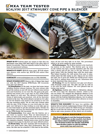 Motocross Action Magazine - May 2017 - Page 114-115