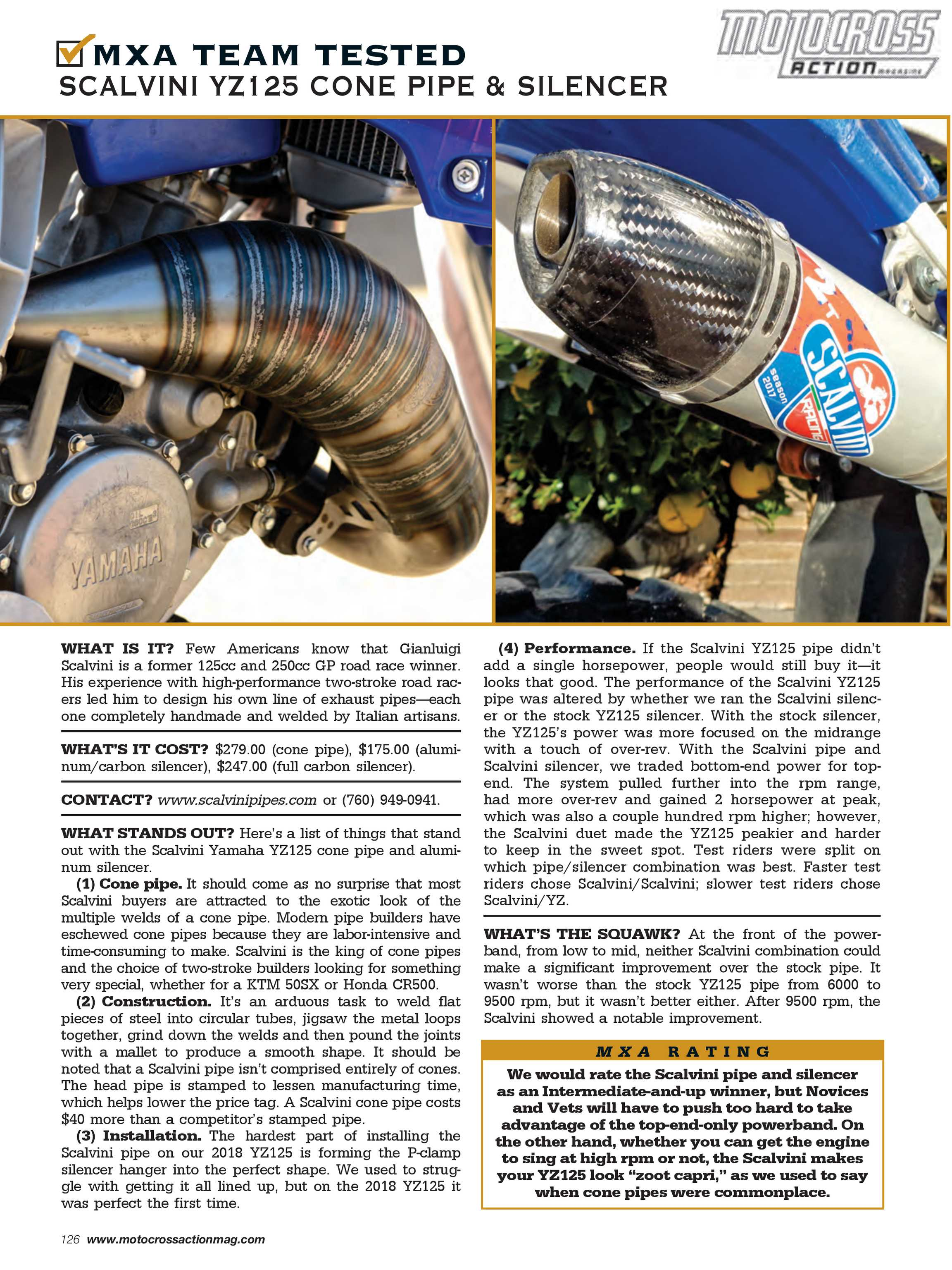 Motocross Action Magazine - May 2018 - page 126
