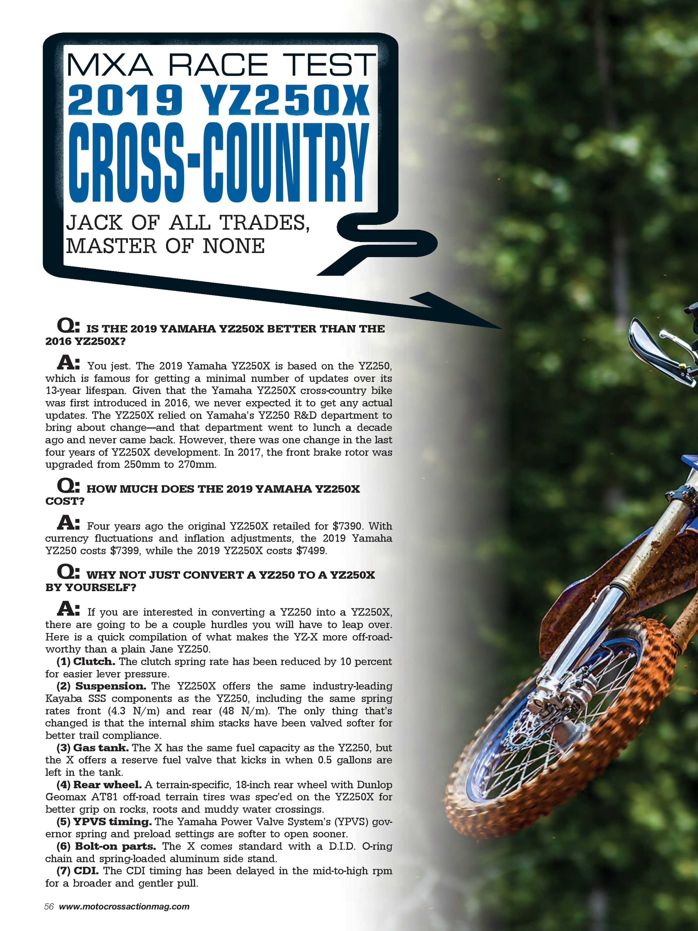 Motocross Action Magazine - May 2019 - page 56