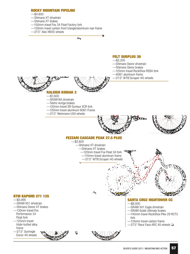 Mountain Bike Action - 2017 Buyers Guide - Page 56-57