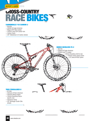 Mountain Bike Action - 2018 Buyers Guide - Page 40-41
