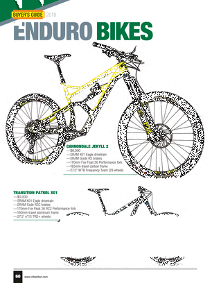 Mountain Bike Action - 2018 Buyers Guide - Page 60-61