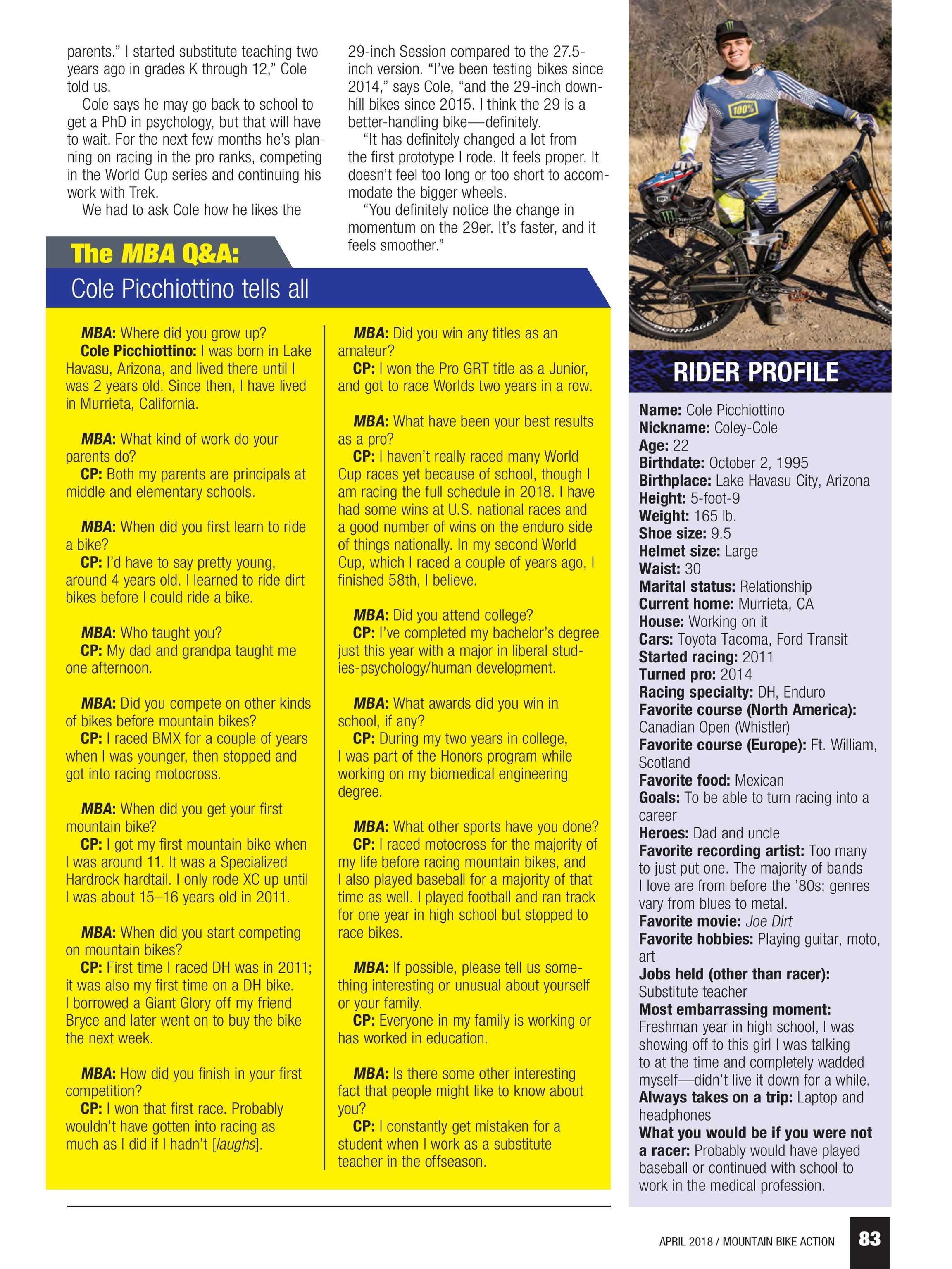 Mountain Bike Action - April 2018 - page 84