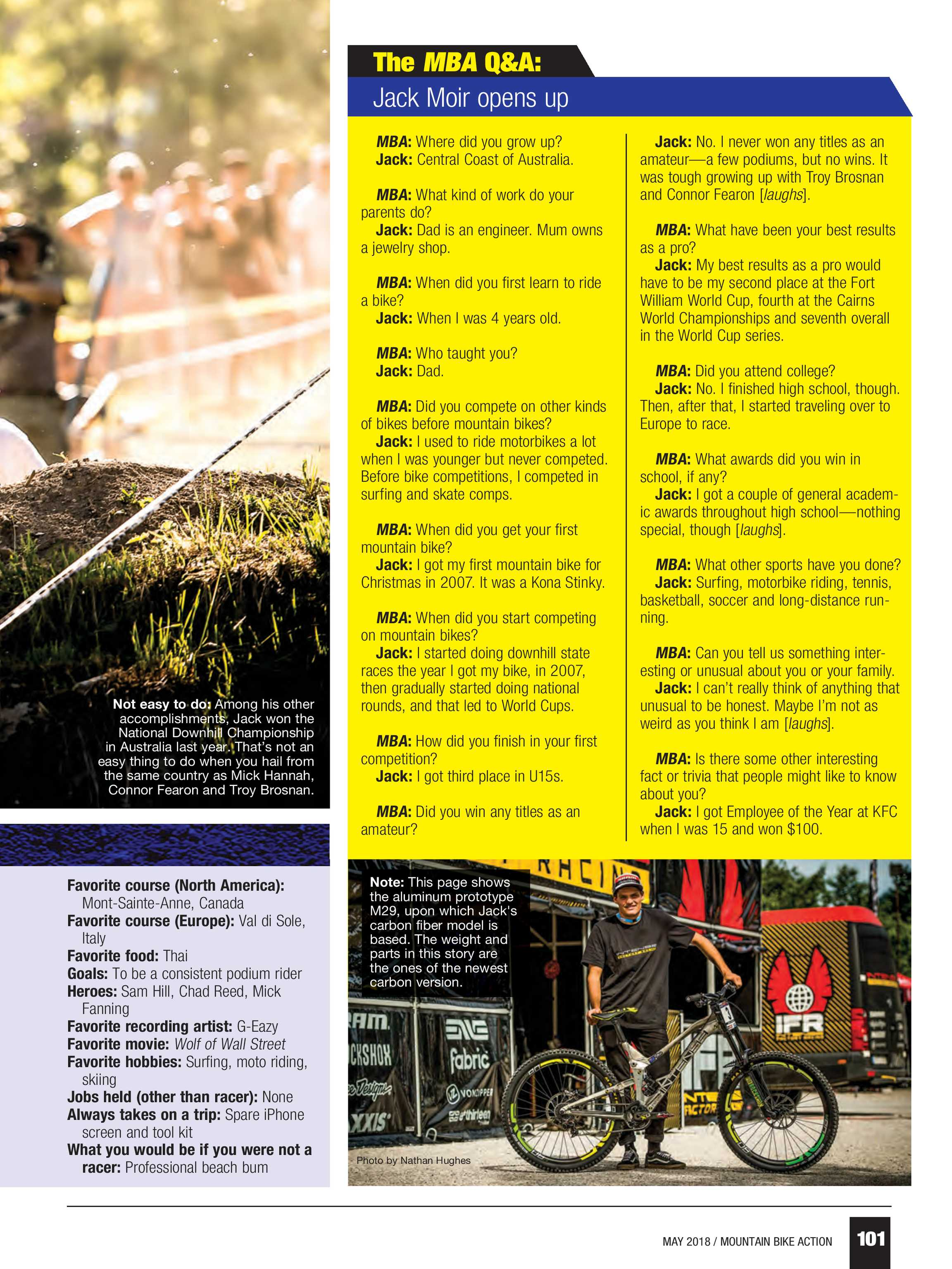 Mountain Bike Action - May 2018 - page 100
