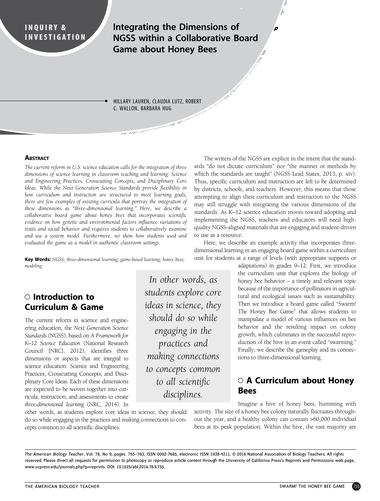 The American Biology Teacher - November/December 2016 - Page 754-755