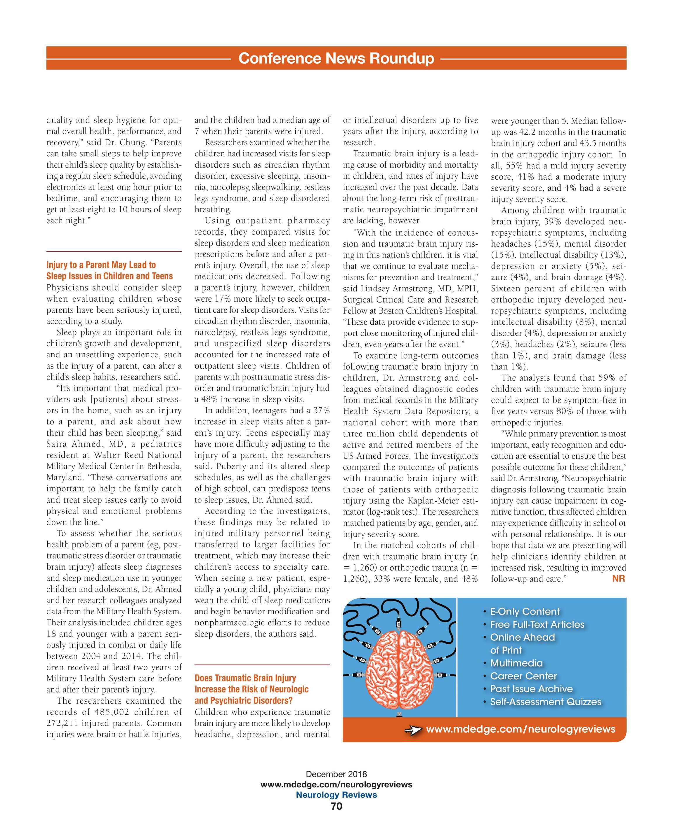 Neurology Reviews - NR DEC 2018 - page 70