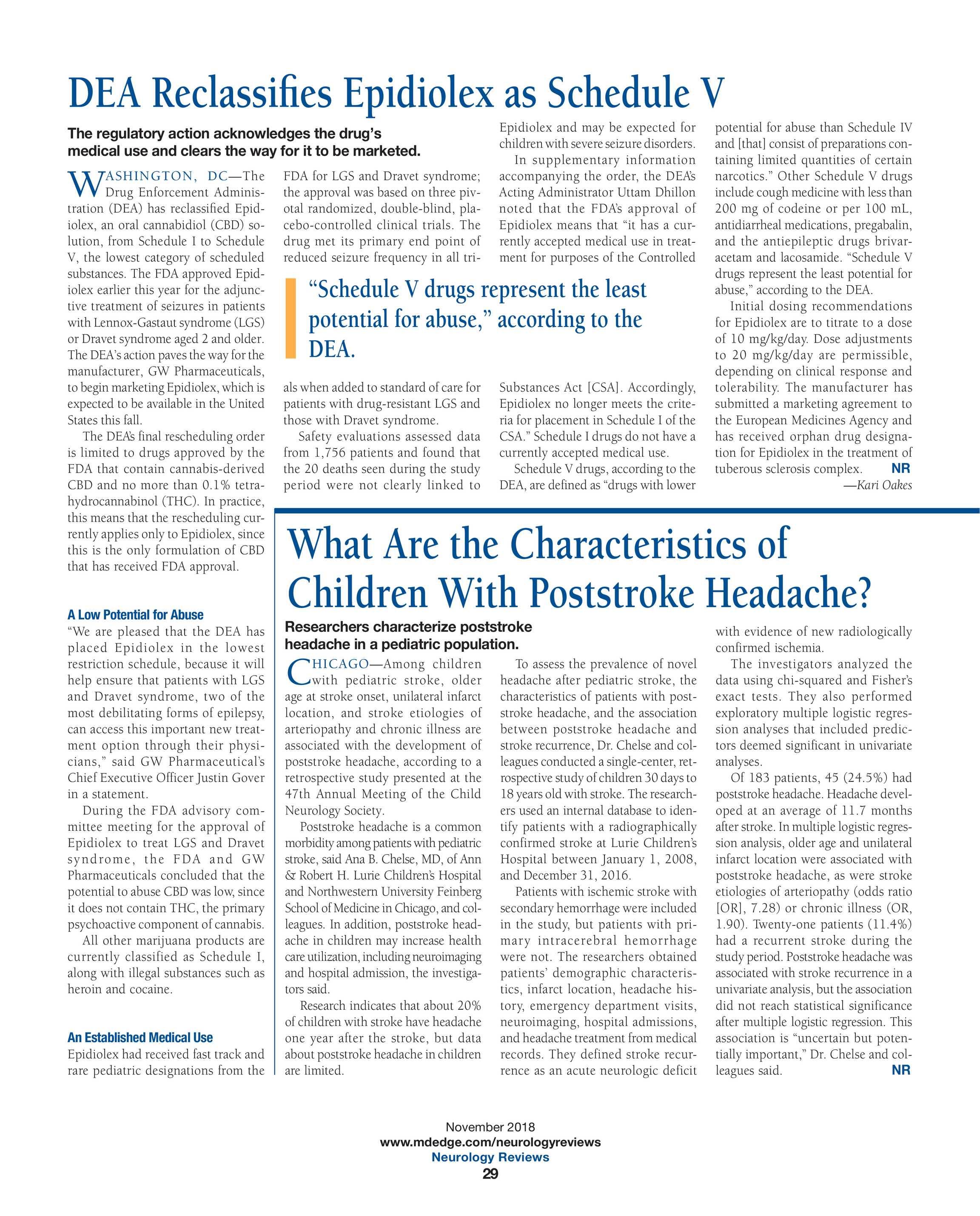 Neurology Reviews - NR NOV 2018 - page 29