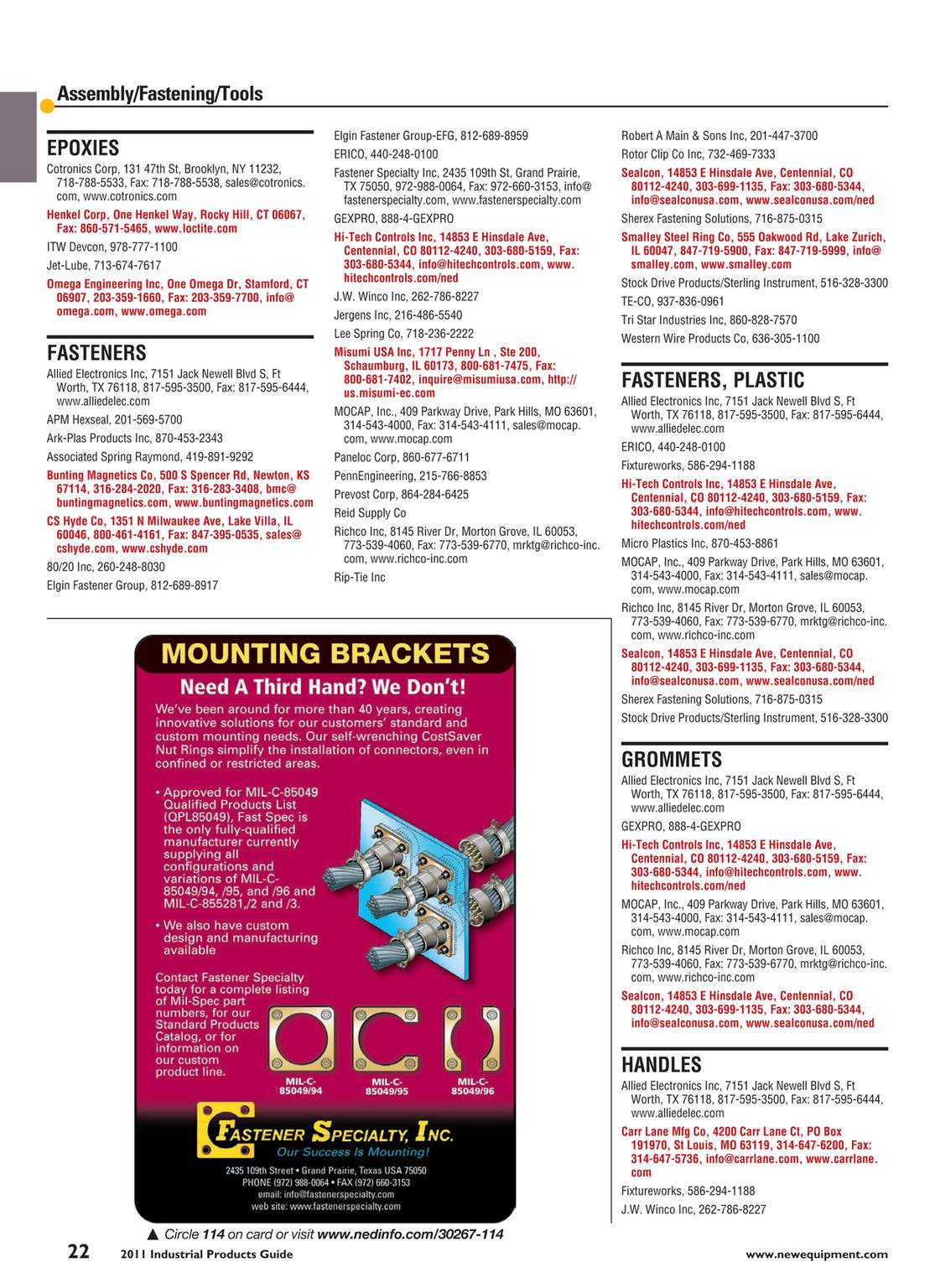 New Equipment Digest - Industrial Products Guide 2011 - page 22
