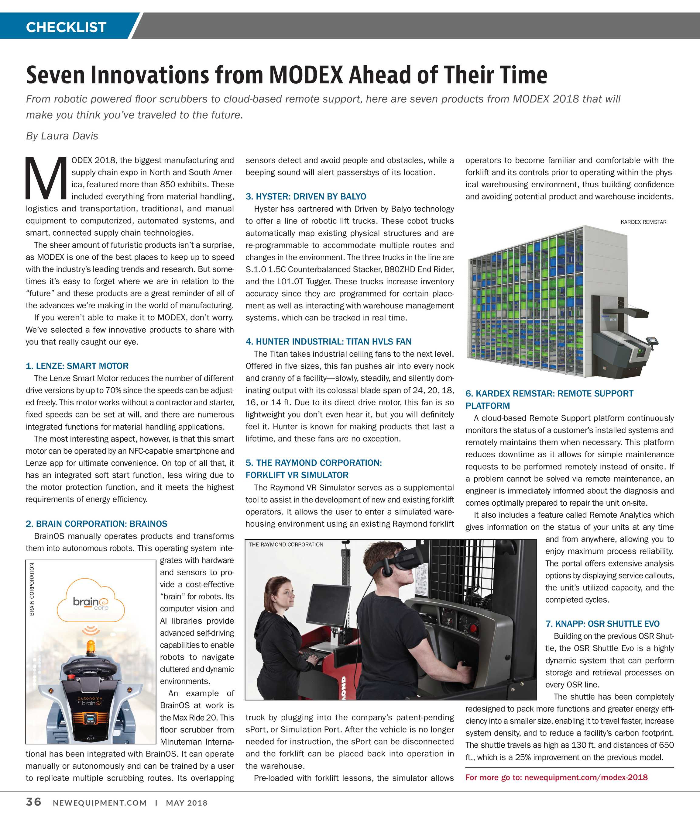 New Equipment Digest - May 2018 - page 36