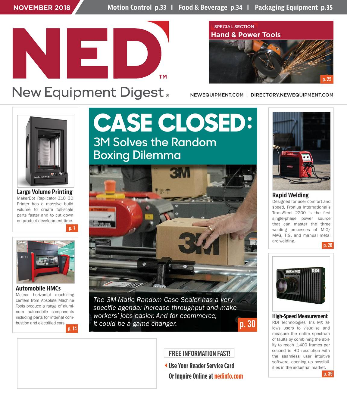 New Equipment Digest - November 2018 - page IFC