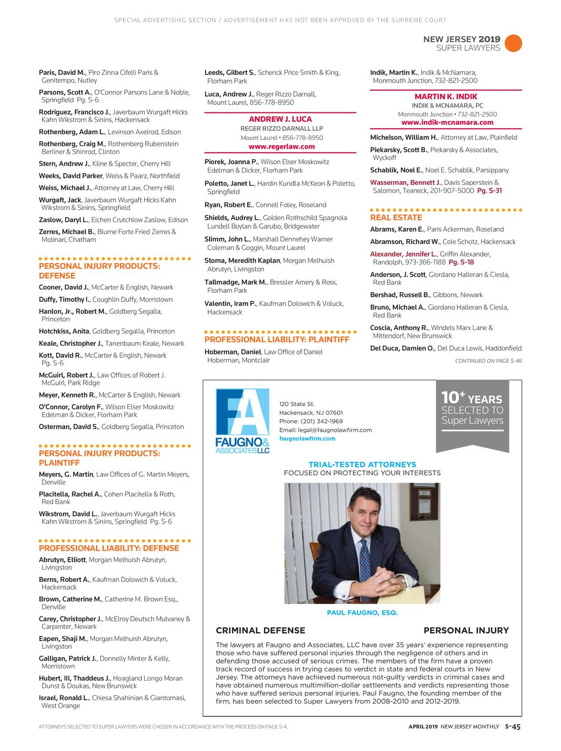 NJ Monthly - April 2019 - page S-46