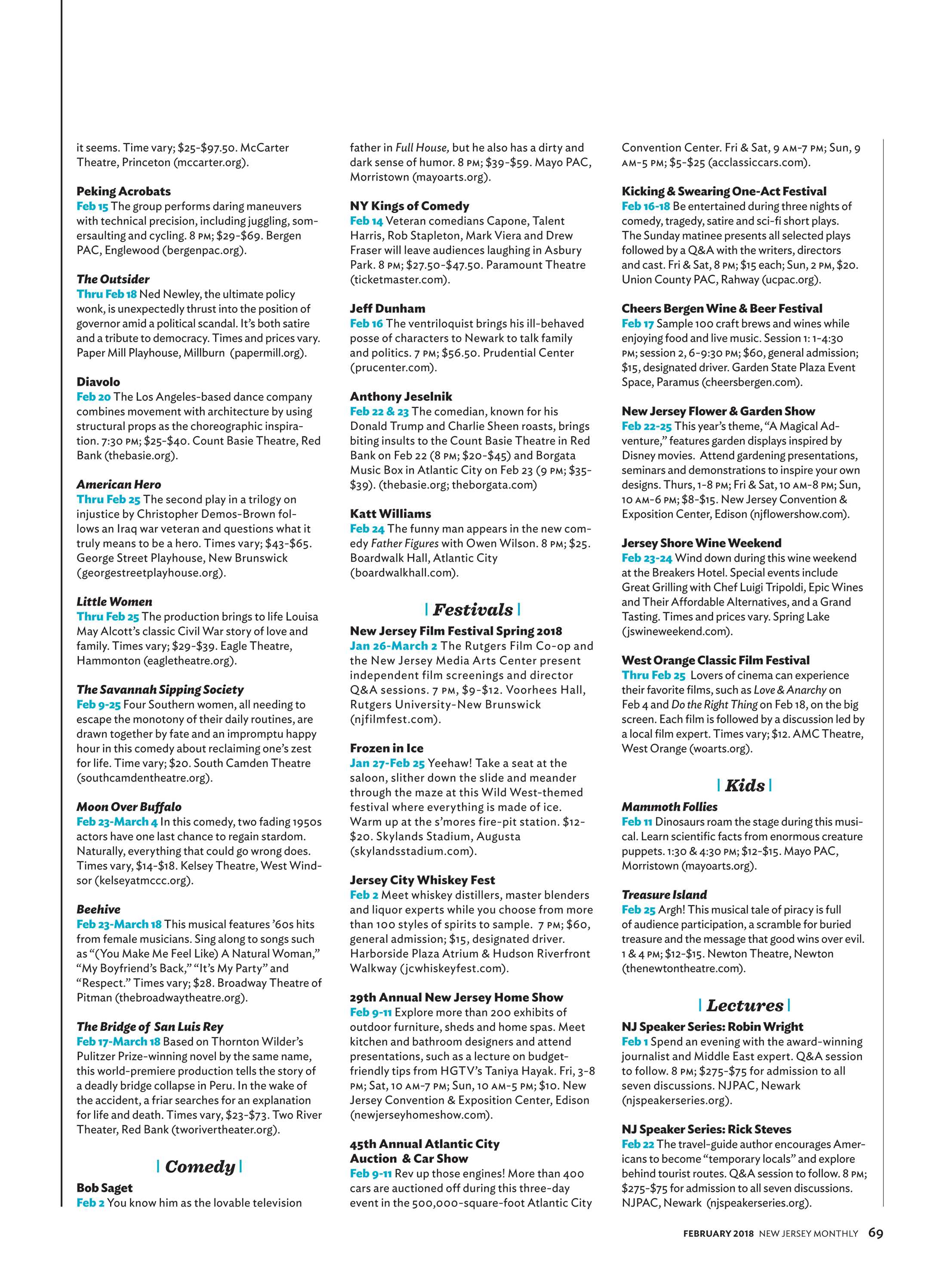 NJ Monthly - February 2018 - page 69