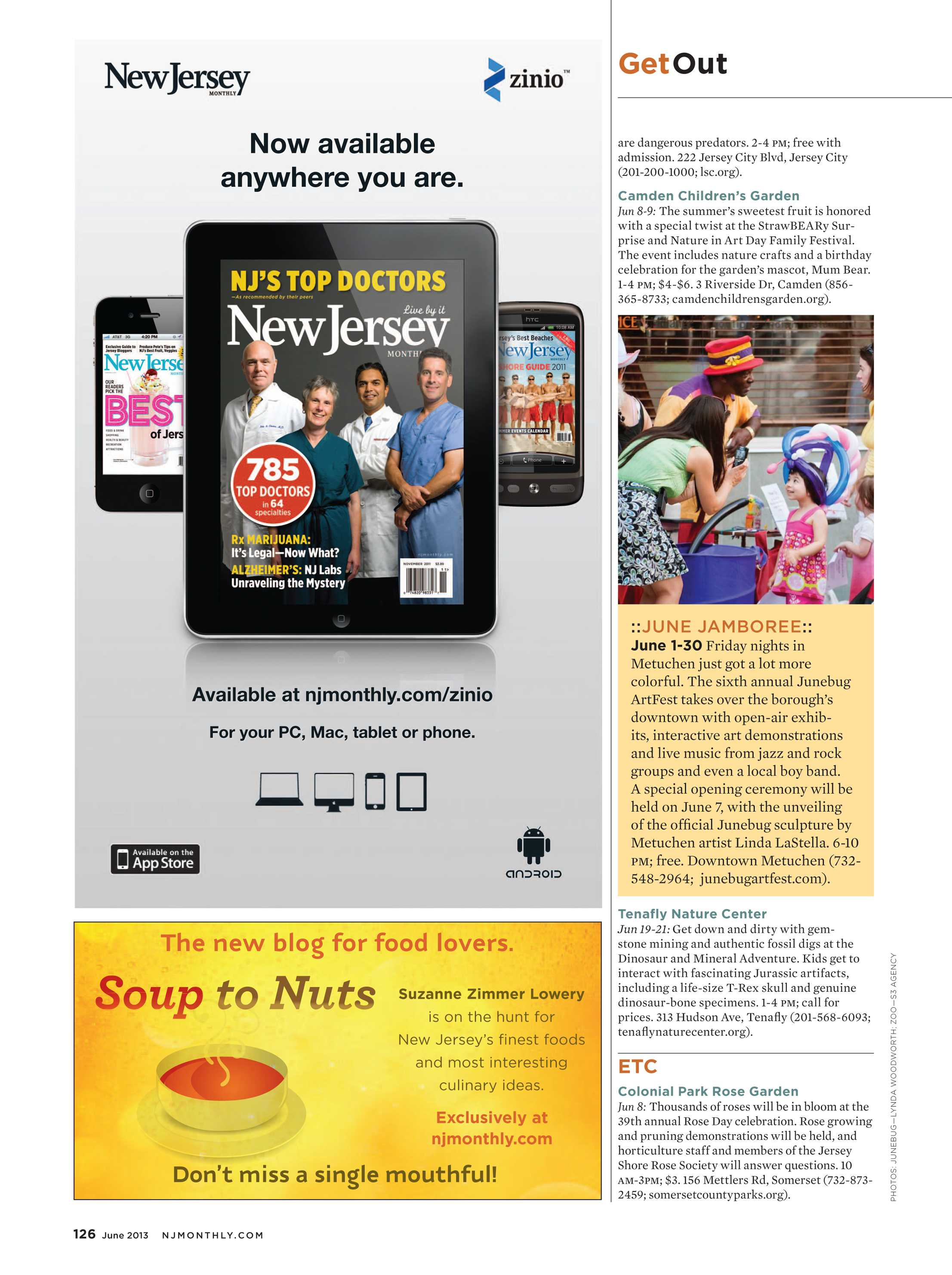 NJ Monthly - June 2013 - page 126