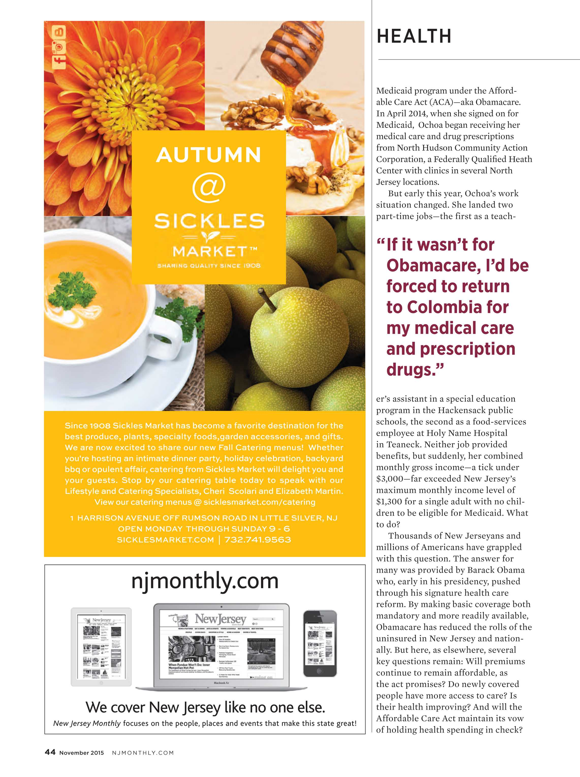 NJ Monthly - November 2015 - page 44
