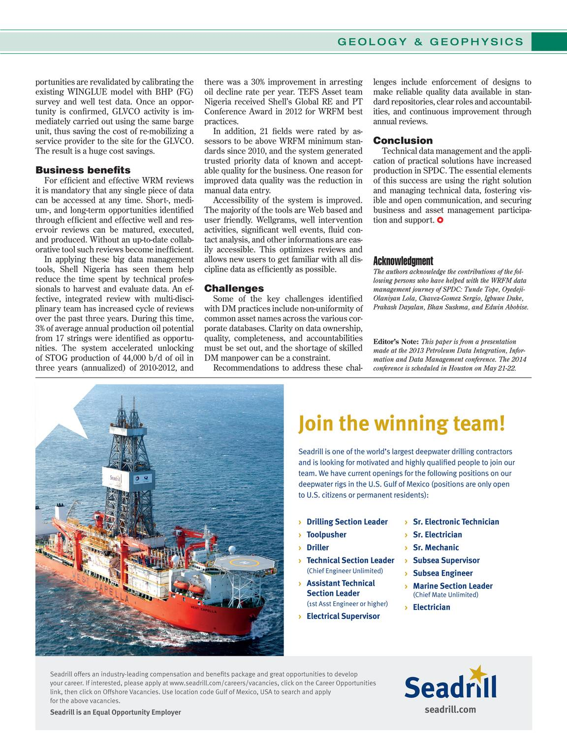 Offshore Magazine - December 2013 - page 64