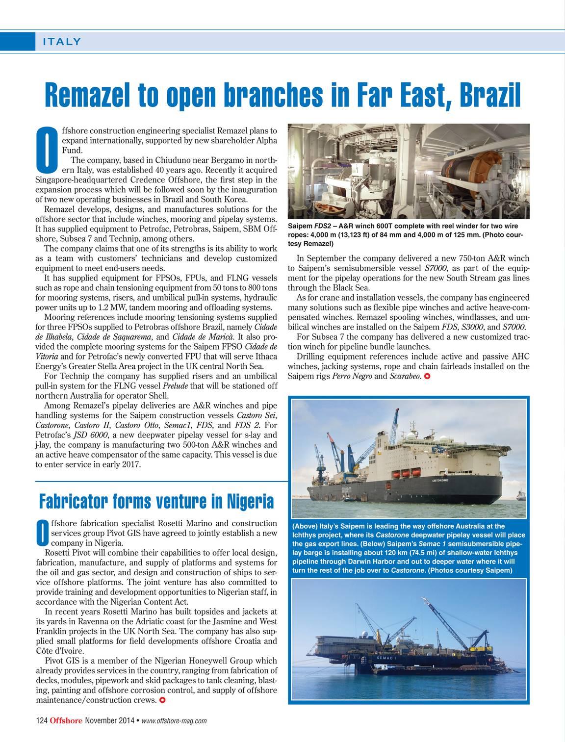 Offshore Magazine - November 2014 - page 123