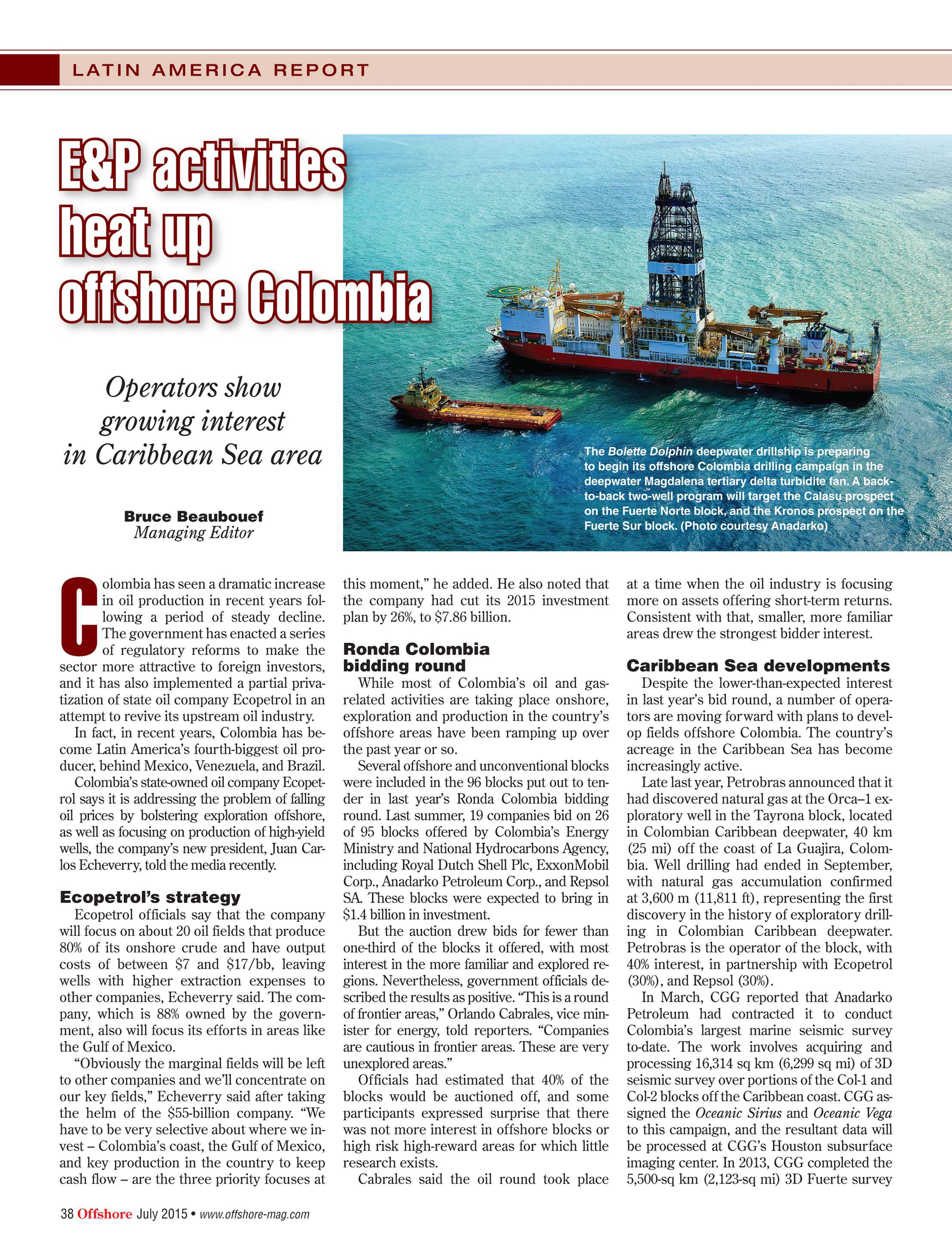 Offshore Magazine - July 2015 - page 38