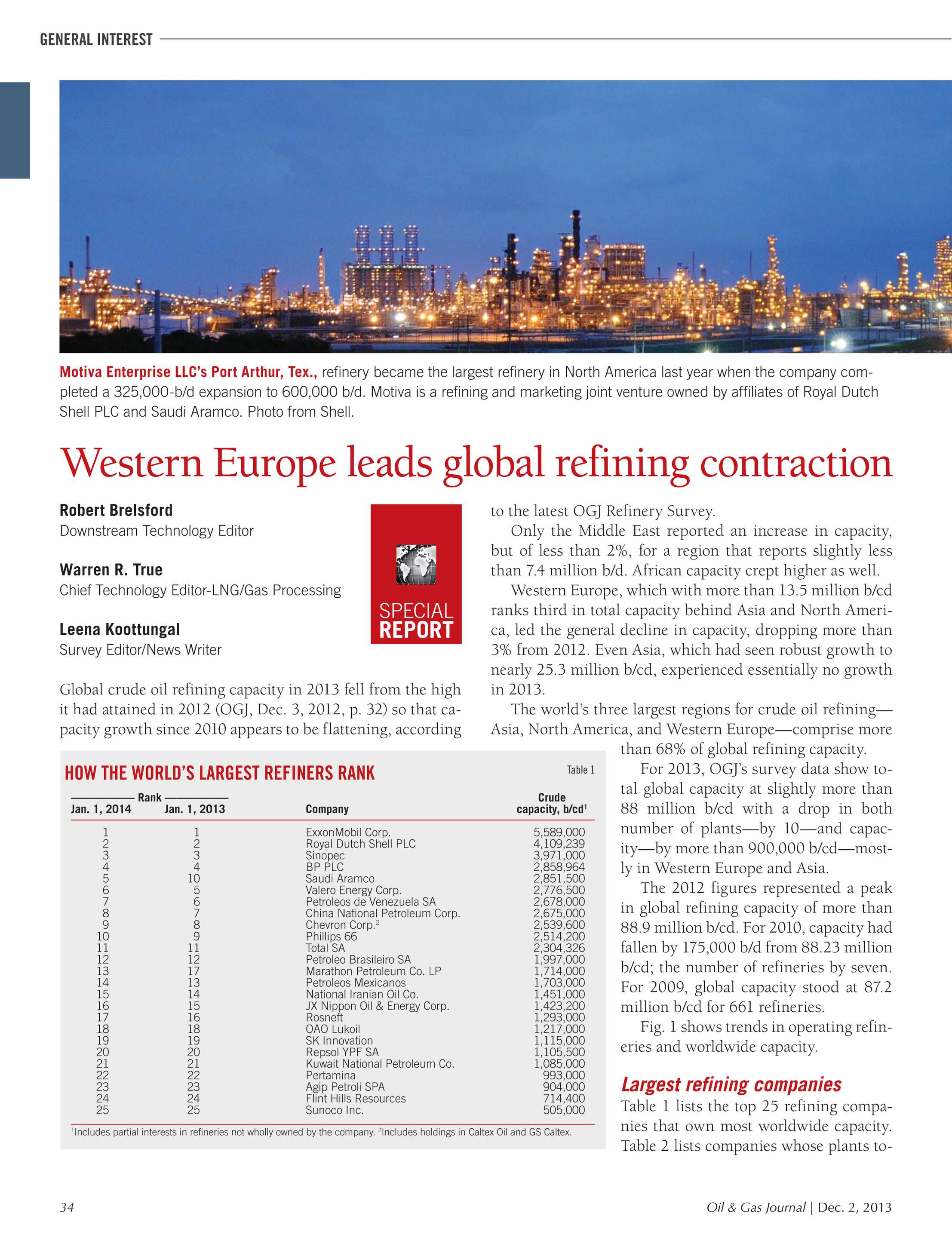 Oil & Gas Journal - December 2, 2013 - page 34