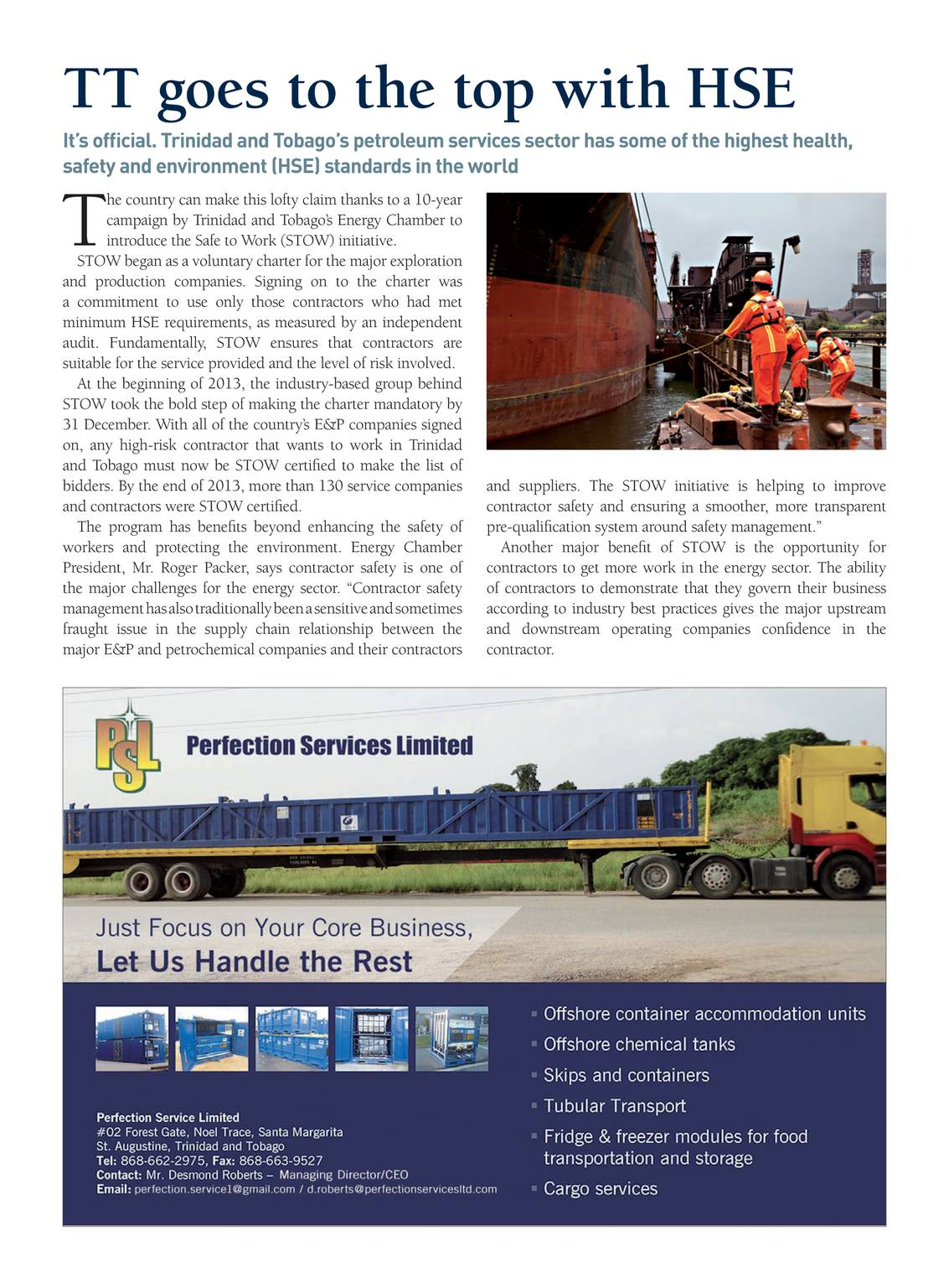 Oil & Gas Journal - May 5, 2014 - page Trinidad19