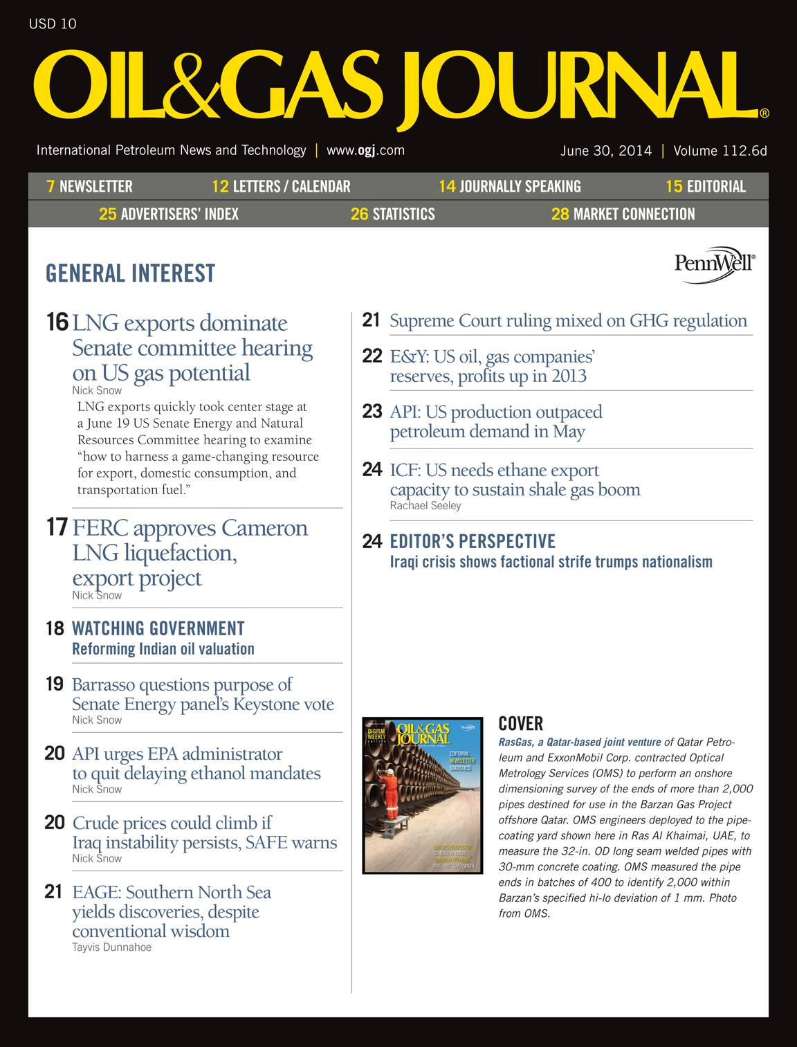 Oil & Gas Journal - June 30, 2014 - page 2