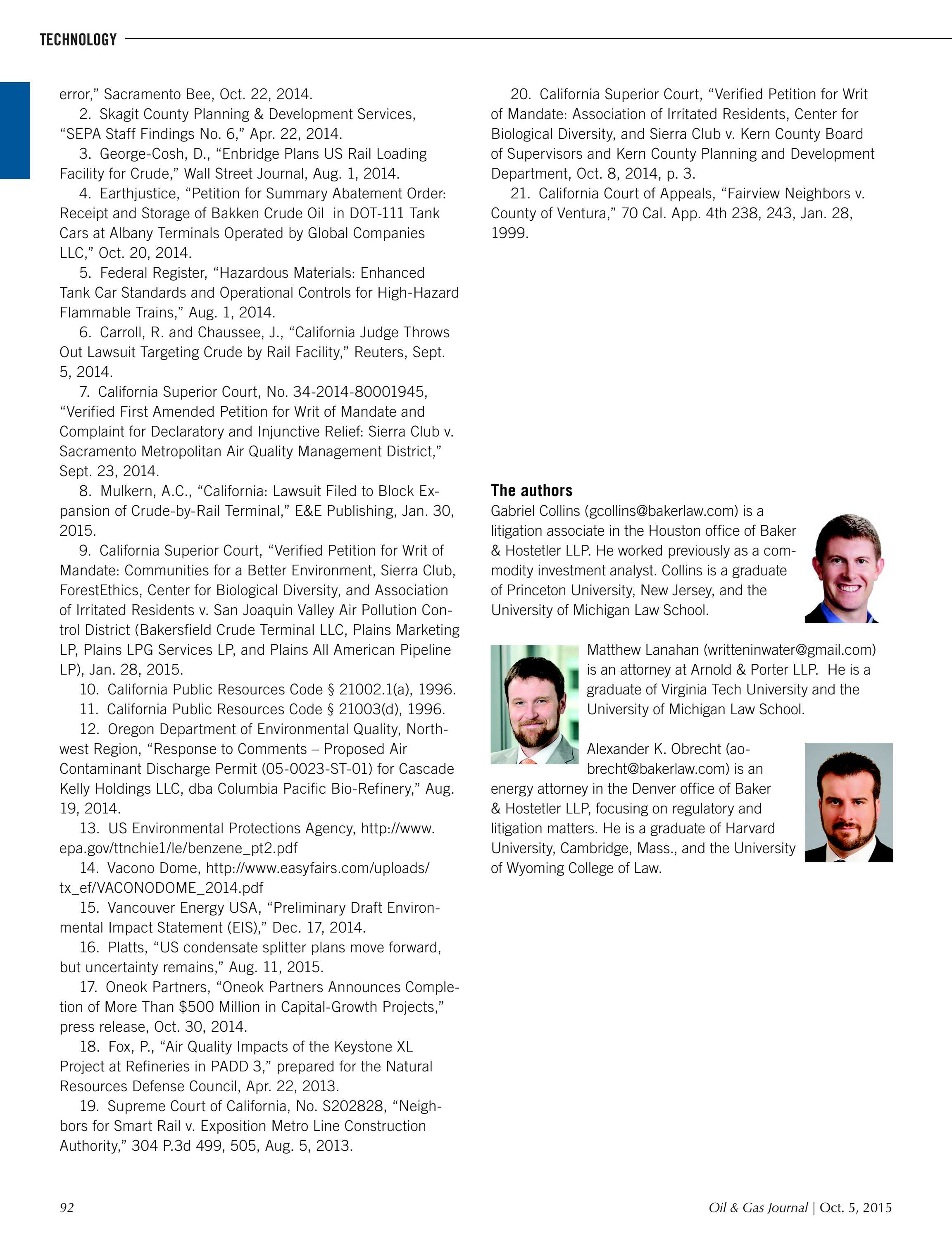 Oil & Gas Journal - October 05, 2015 - page 92