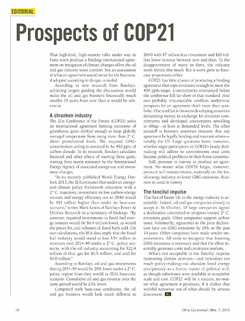 Oil & Gas Journal - December 07, 2015 - page 18