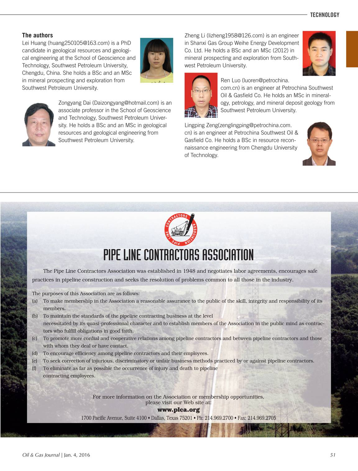 Oil & Gas Journal - January 04, 2016 - page 51