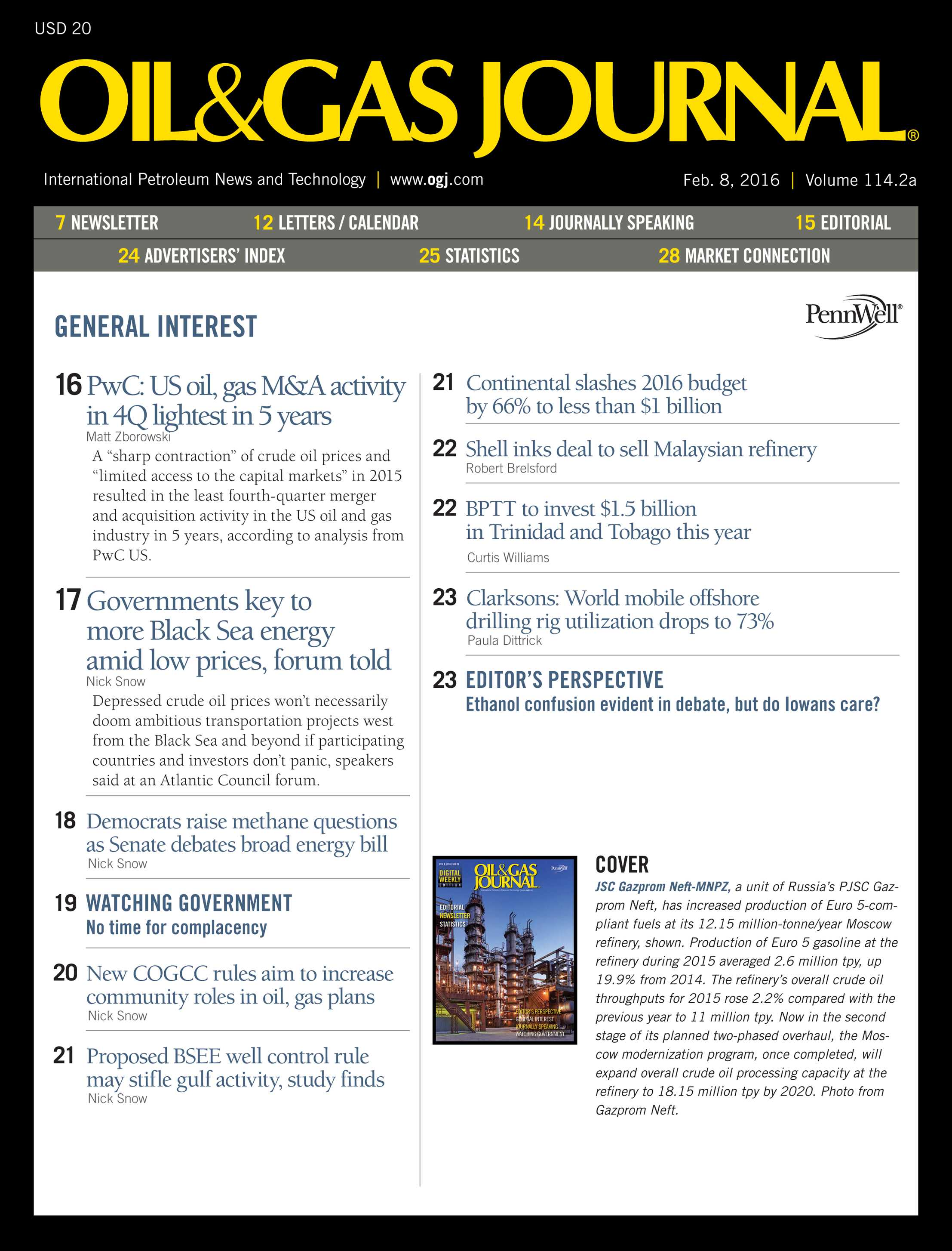 Oil & Gas Journal - February 8, 2016 - page 3