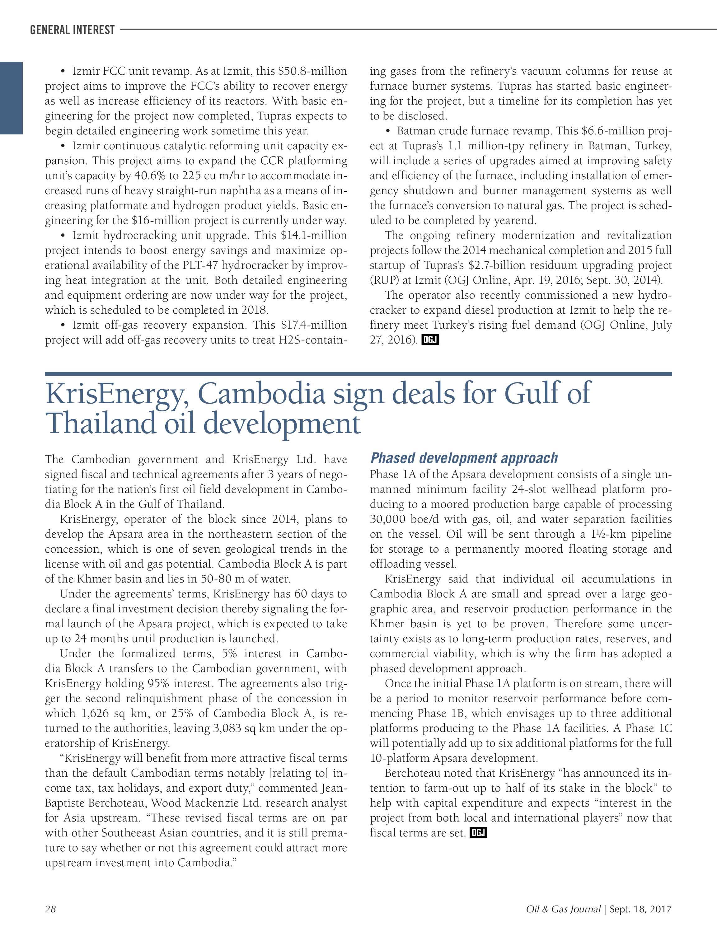 Oil & Gas Journal - September 18, 2017 - page 28