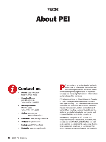 PEI Journal - Directory 2018 - Page 12-13