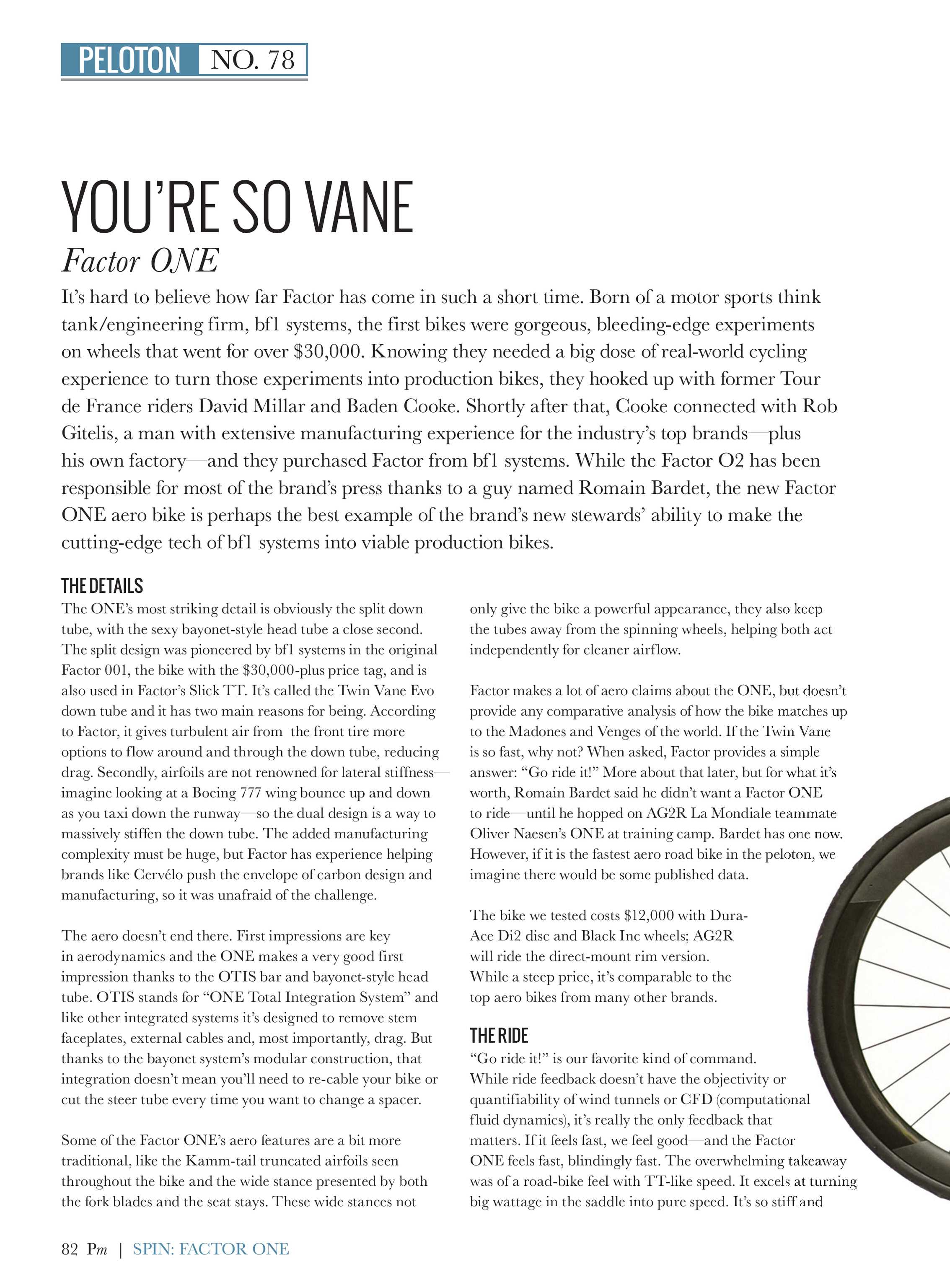Not Too Many Wheels Spinning On These >> Peloton July 78 2018 Page 82