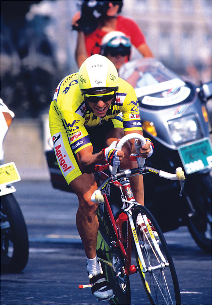 lemond set a record speed of 54.545 kph to win the 24.5km