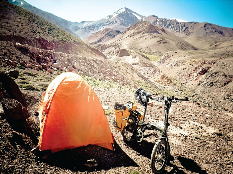 across the andes on a folding