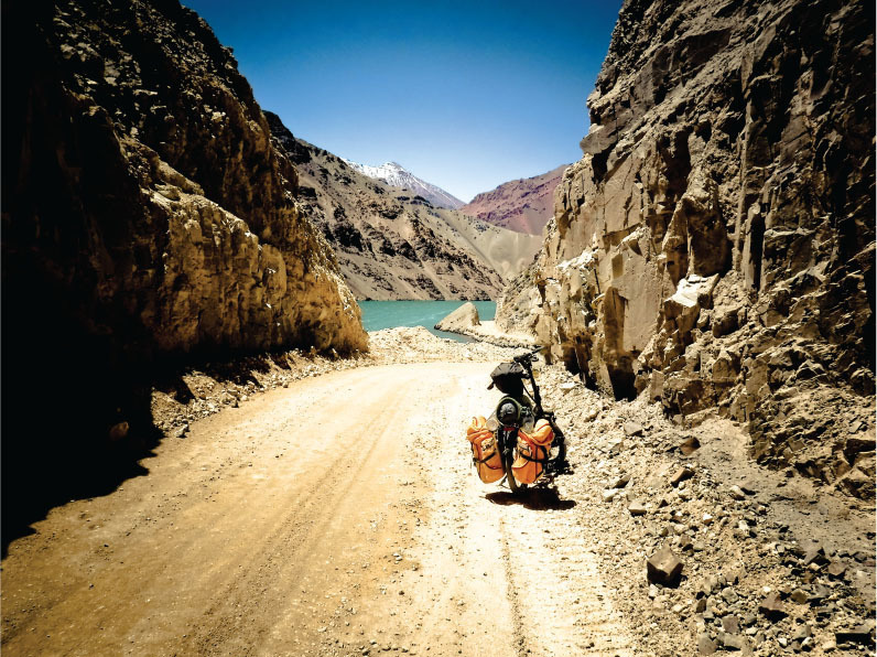 the andes on a folding bike