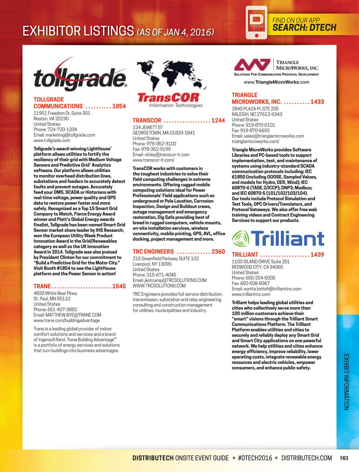Pennwell Supplements 2016 D Tech Show Guide Page 163 Trane Model Number Search