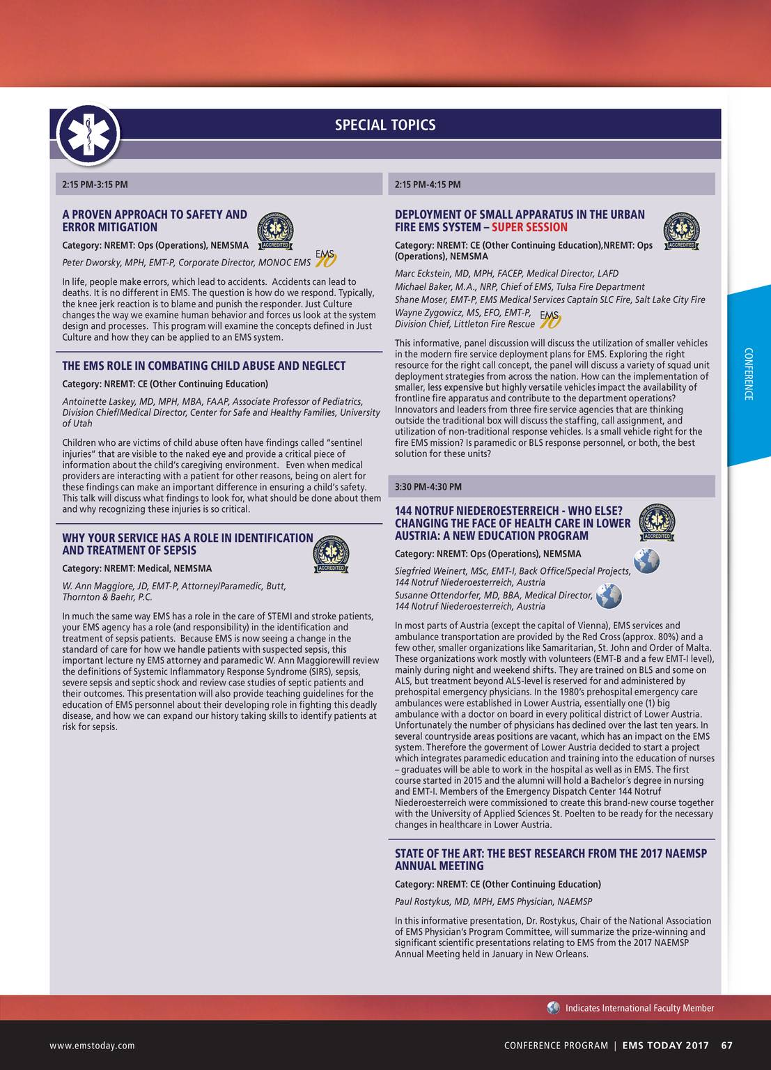 Pennwell Supplements - EMS Today 2016 Show Guide - page 67