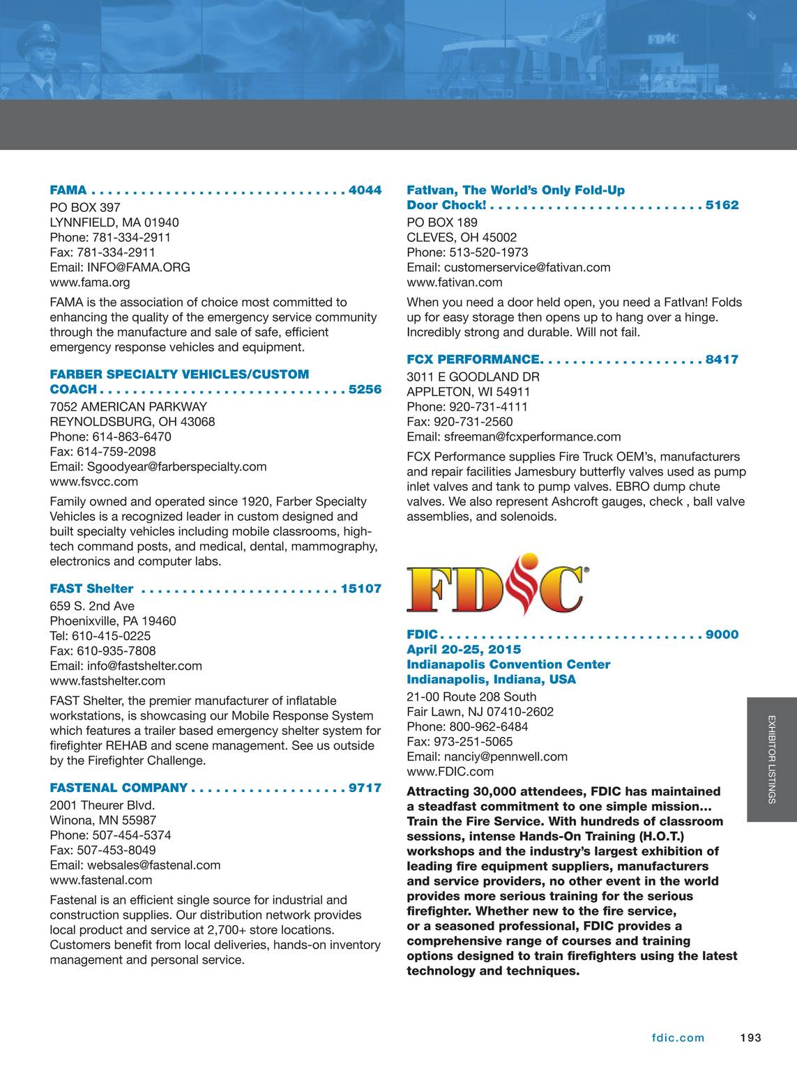 Pennwell Supplements - FDIC 2014 Show Guide - page 194