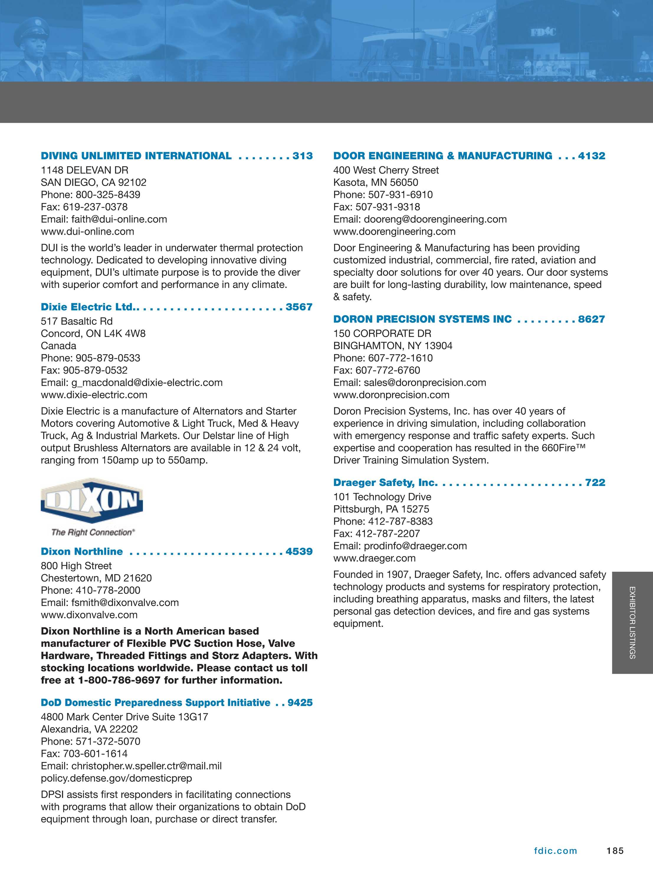 Pennwell Supplements - FDIC 2014 Show Guide - page 185