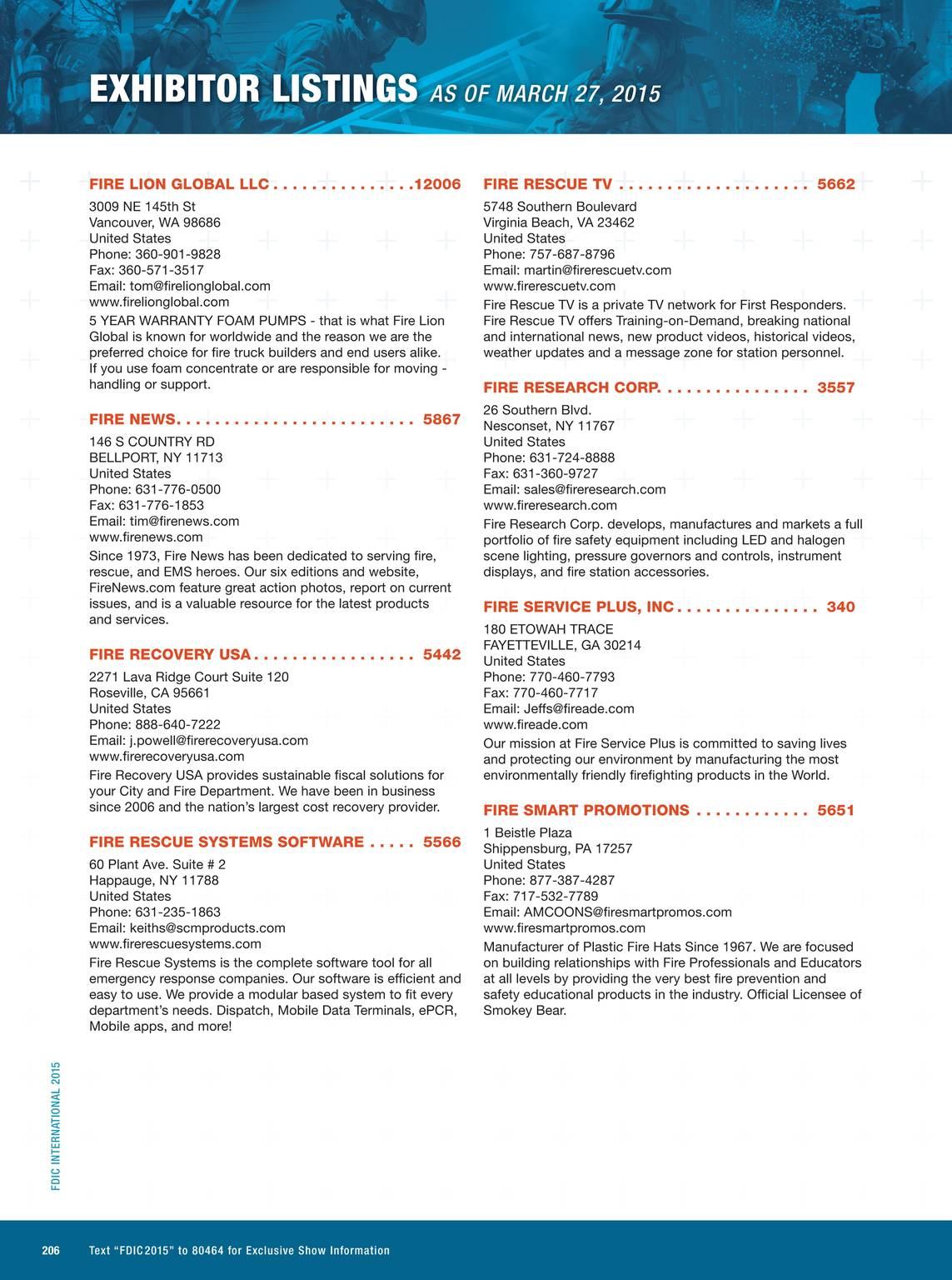Pennwell Supplements - FDIC 2015 Event Guide - page 207