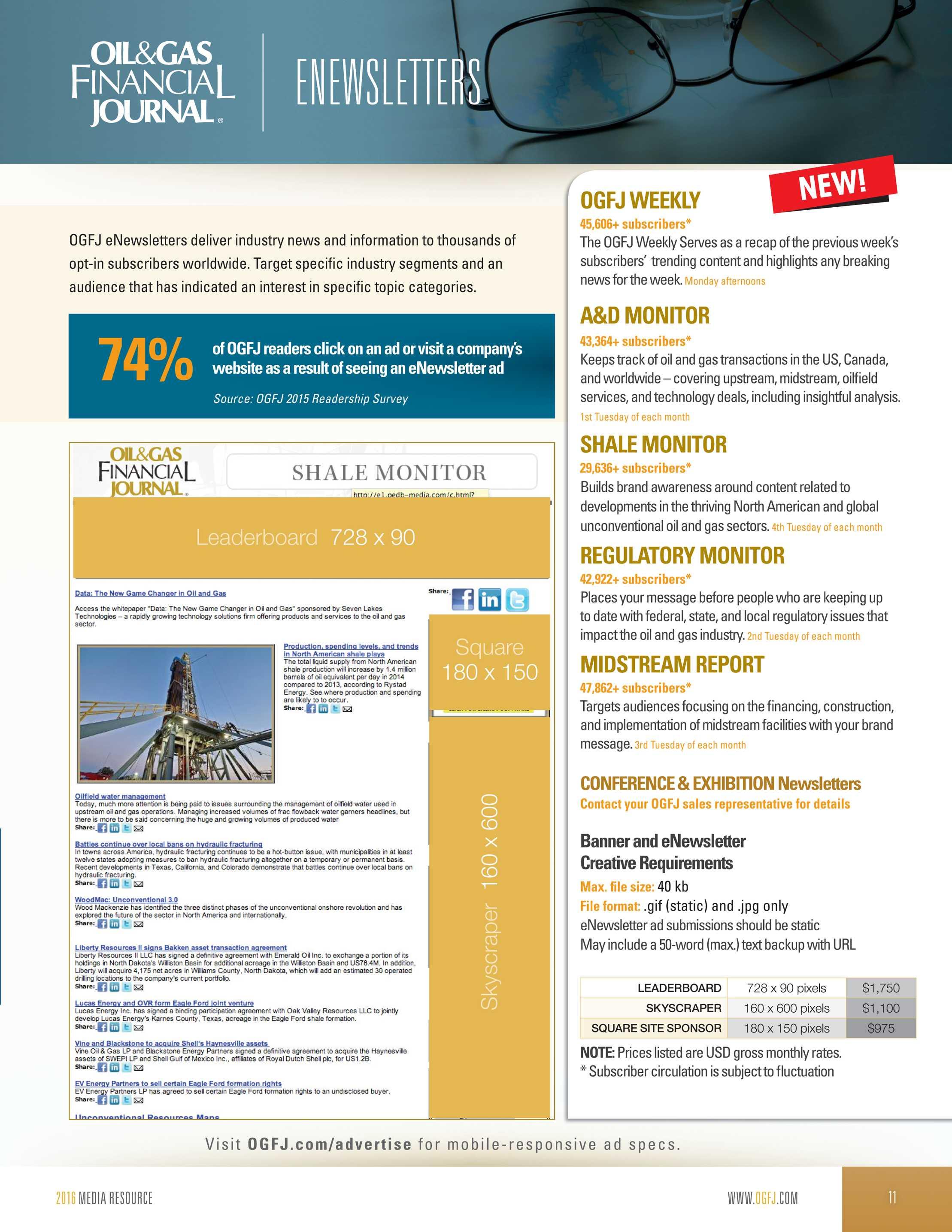 Pennwell Supplements - Oil & Gas Financial Journal 2016 Media Kit