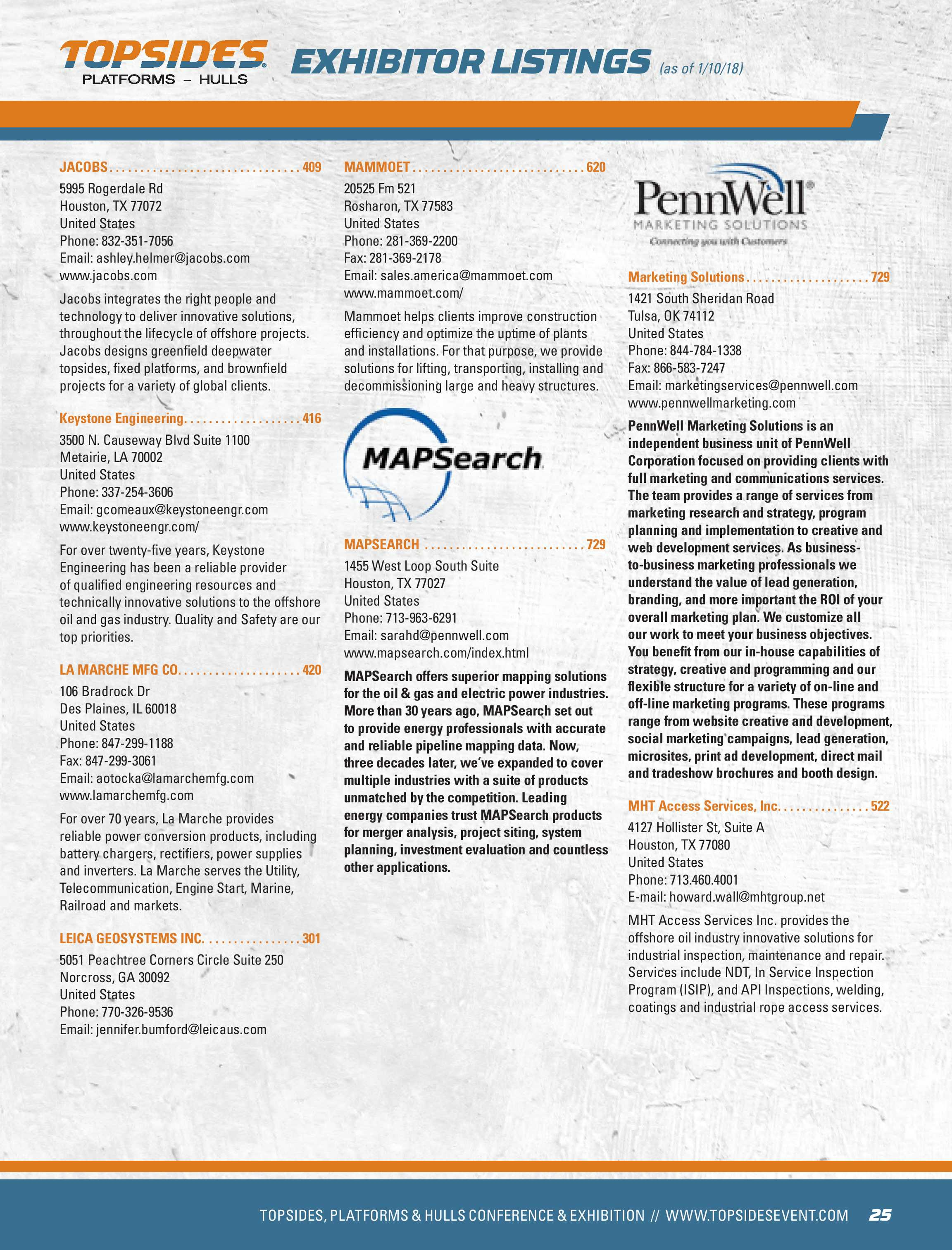 Pennwell Supplements - Topsides 2018 Show Guide - page 25