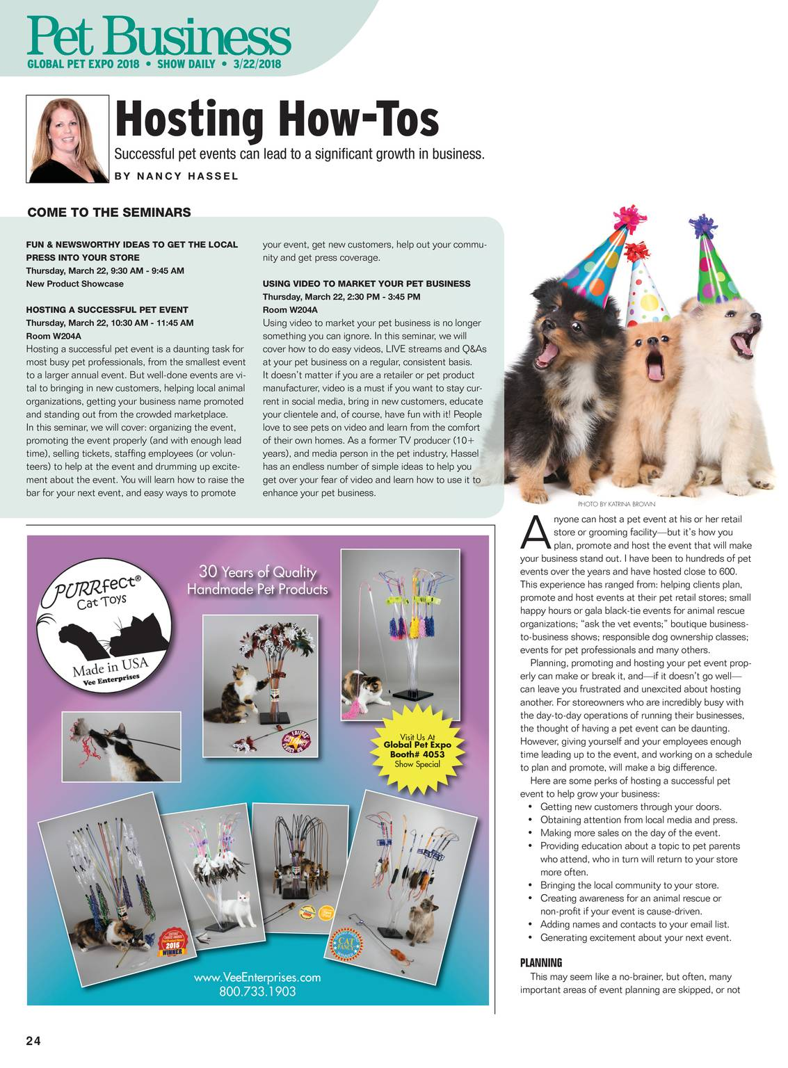 Pet Business - Global Pet Expo Show Daily Day 2 2018 - page 25