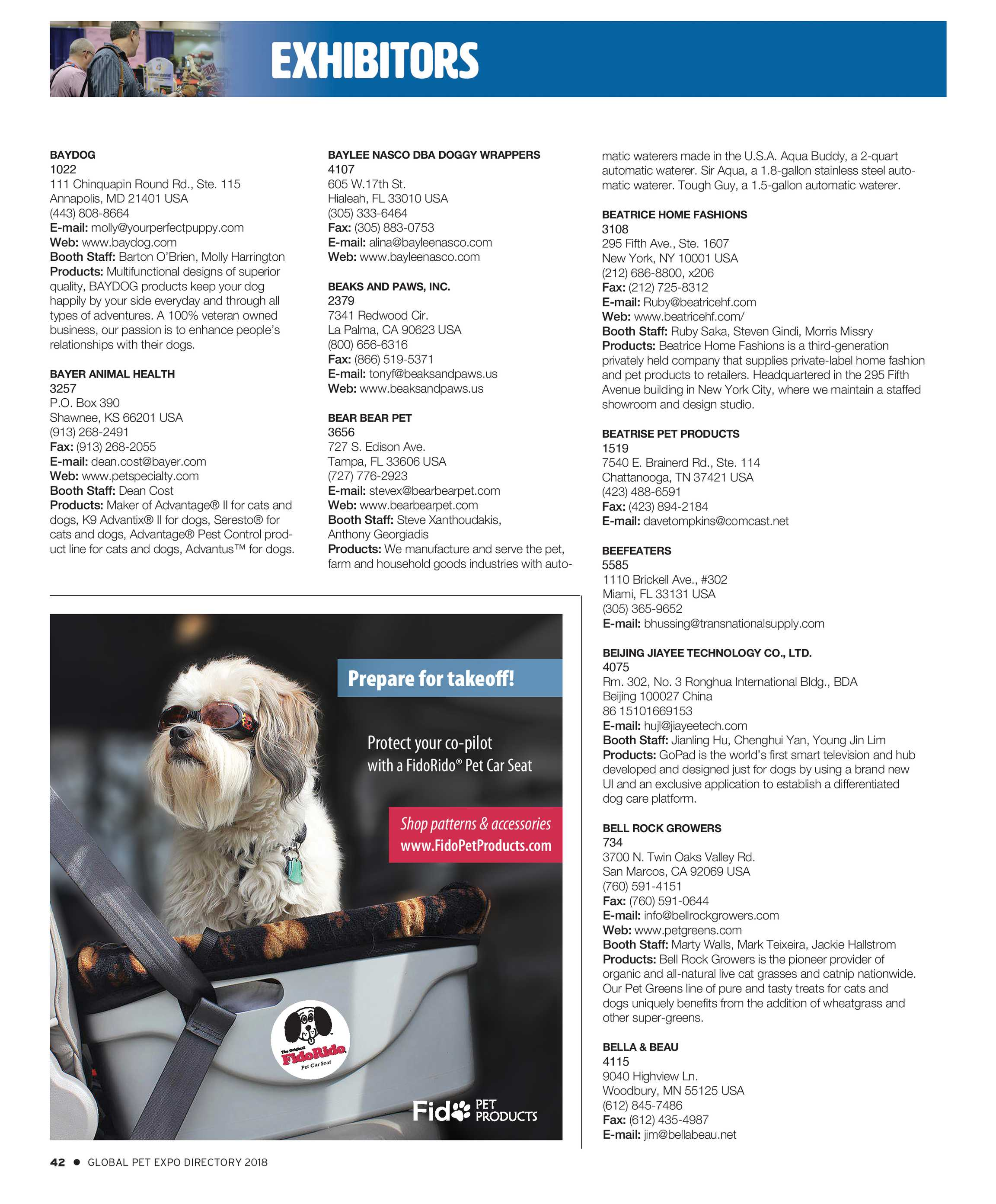 Pet Business - Global Pet Expo Show Directory 2018 - page 42