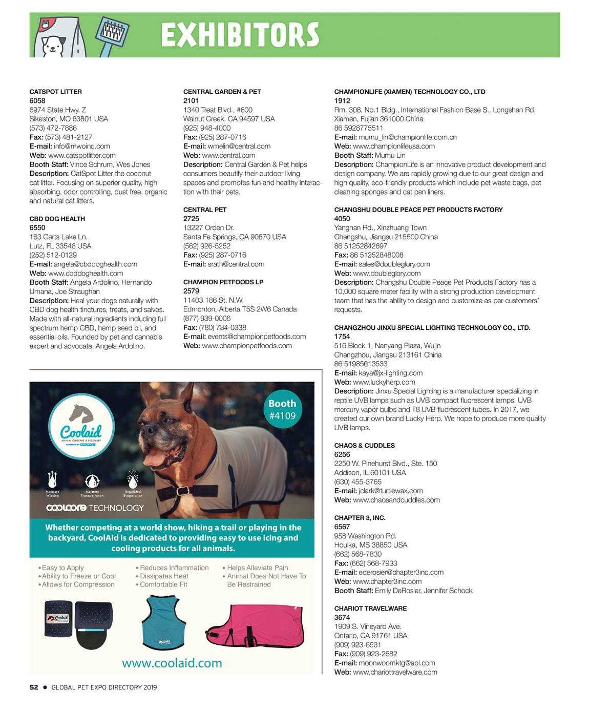 Pet Business - Global Pet Expo Show Directory 2019 - page 53