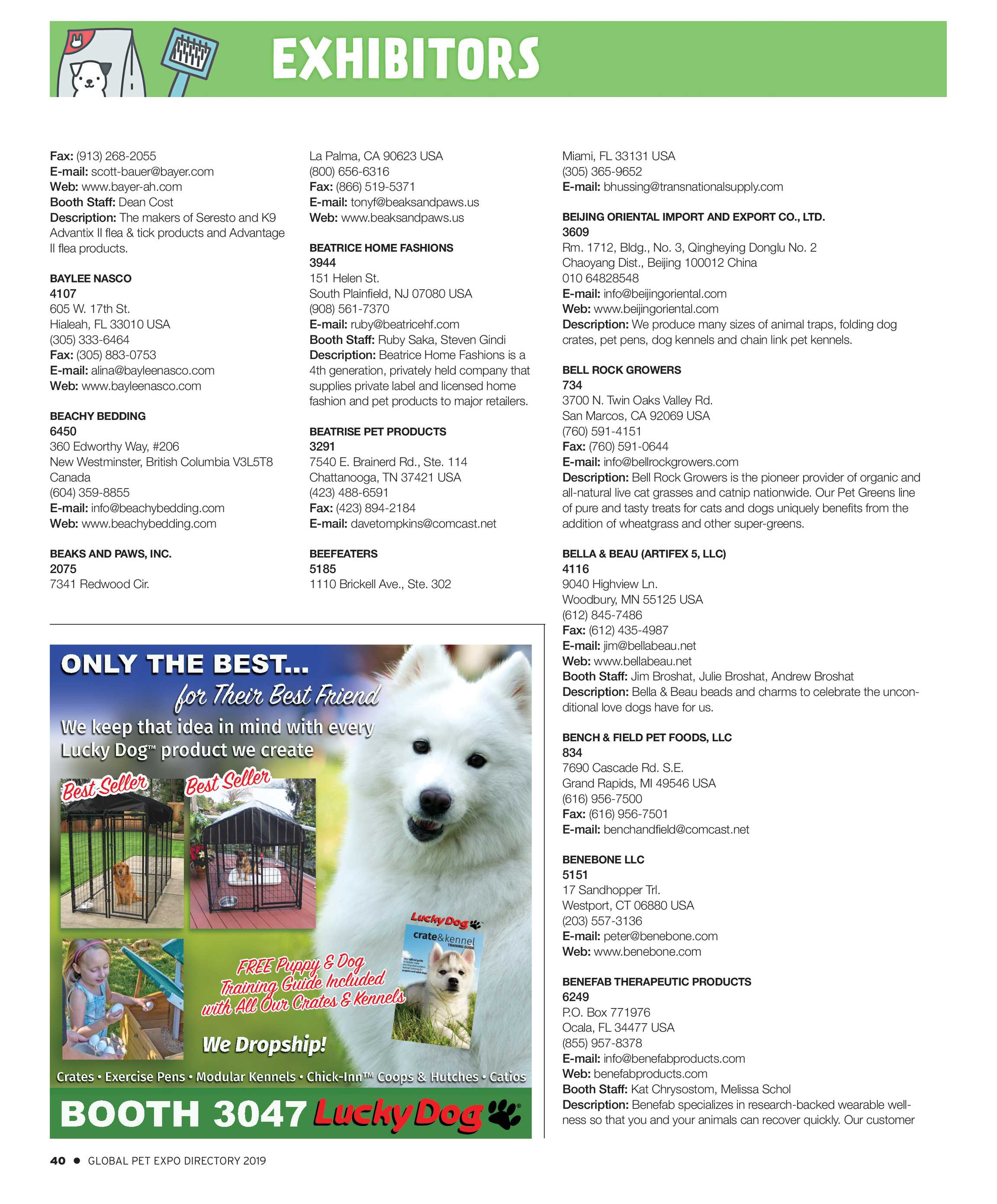 Pet Business - Global Pet Expo Show Directory 2019 - page 40