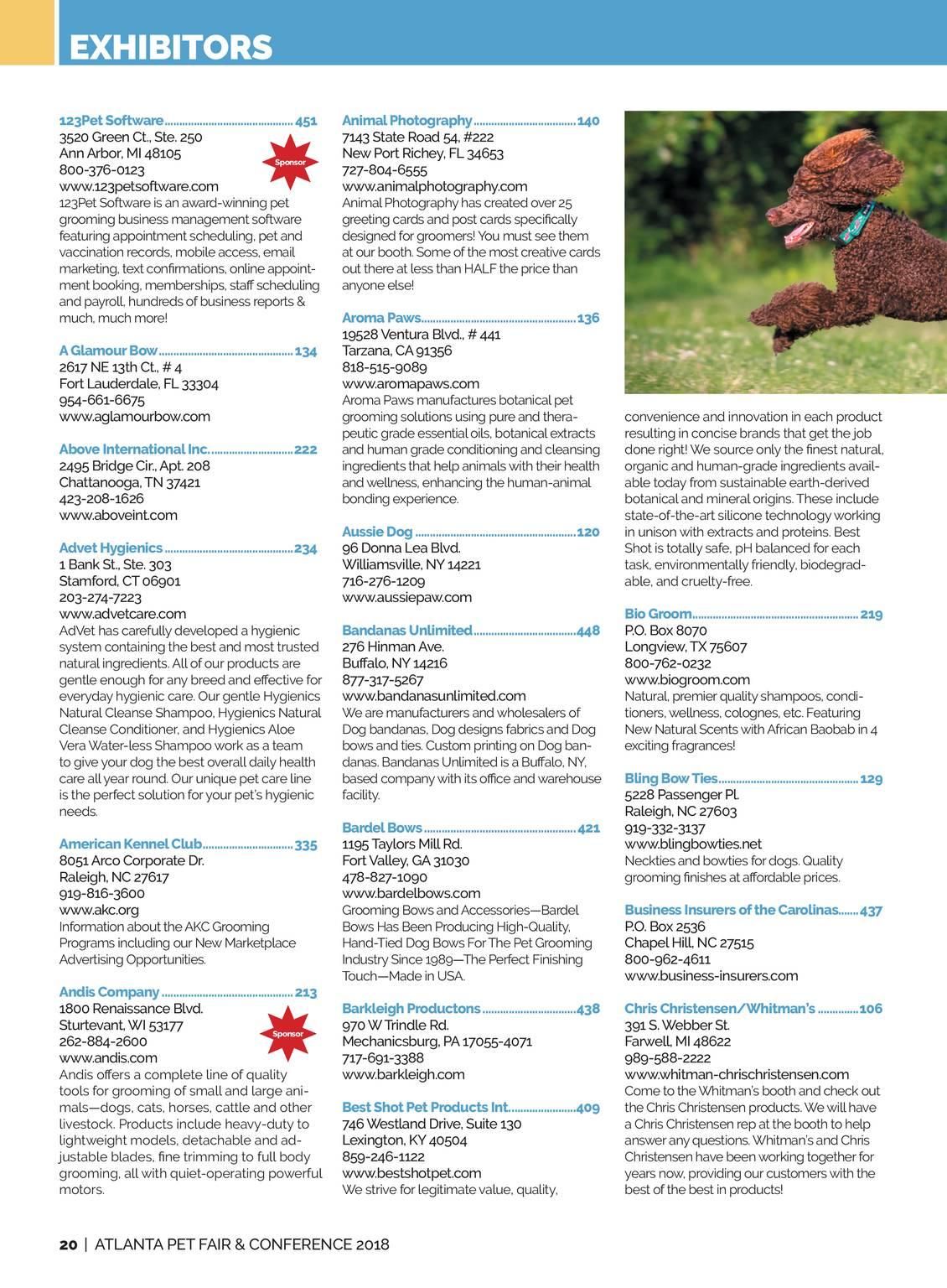 Pet Product News - Atlanta Pet Fair 2018 - page 21