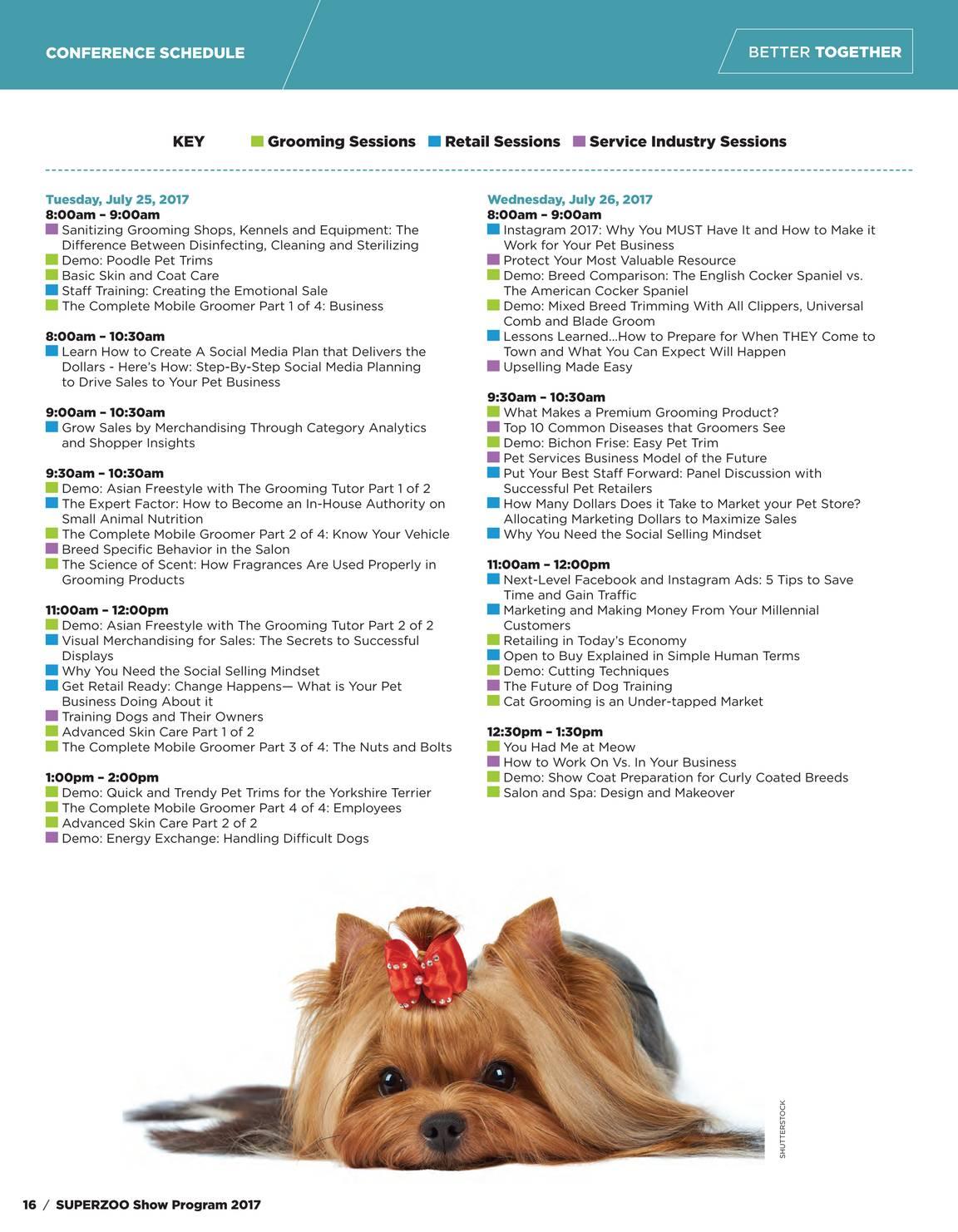 Pet Product News - SuperZoo Show Program 2017 - page 16