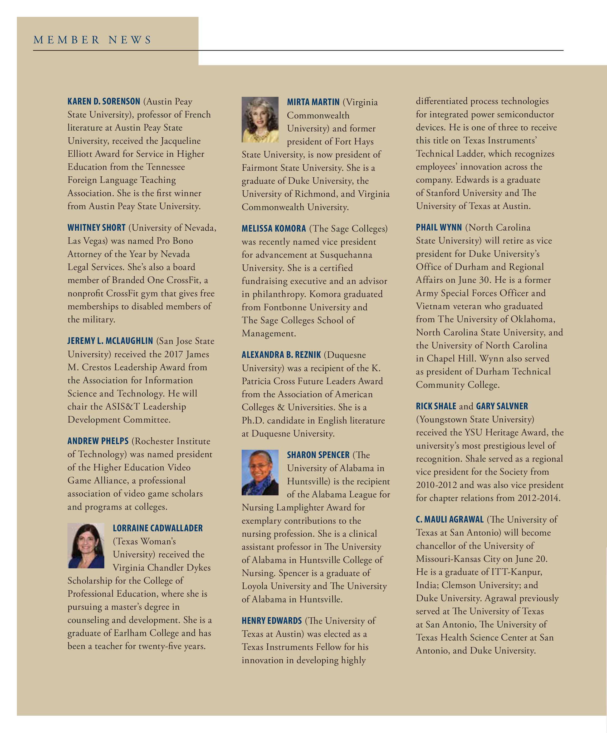 Phi Kappa Phi Forum Summer 2018 Page 6