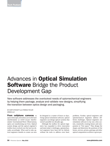 Photonics Spectra - May 2016 - Page 50-51
